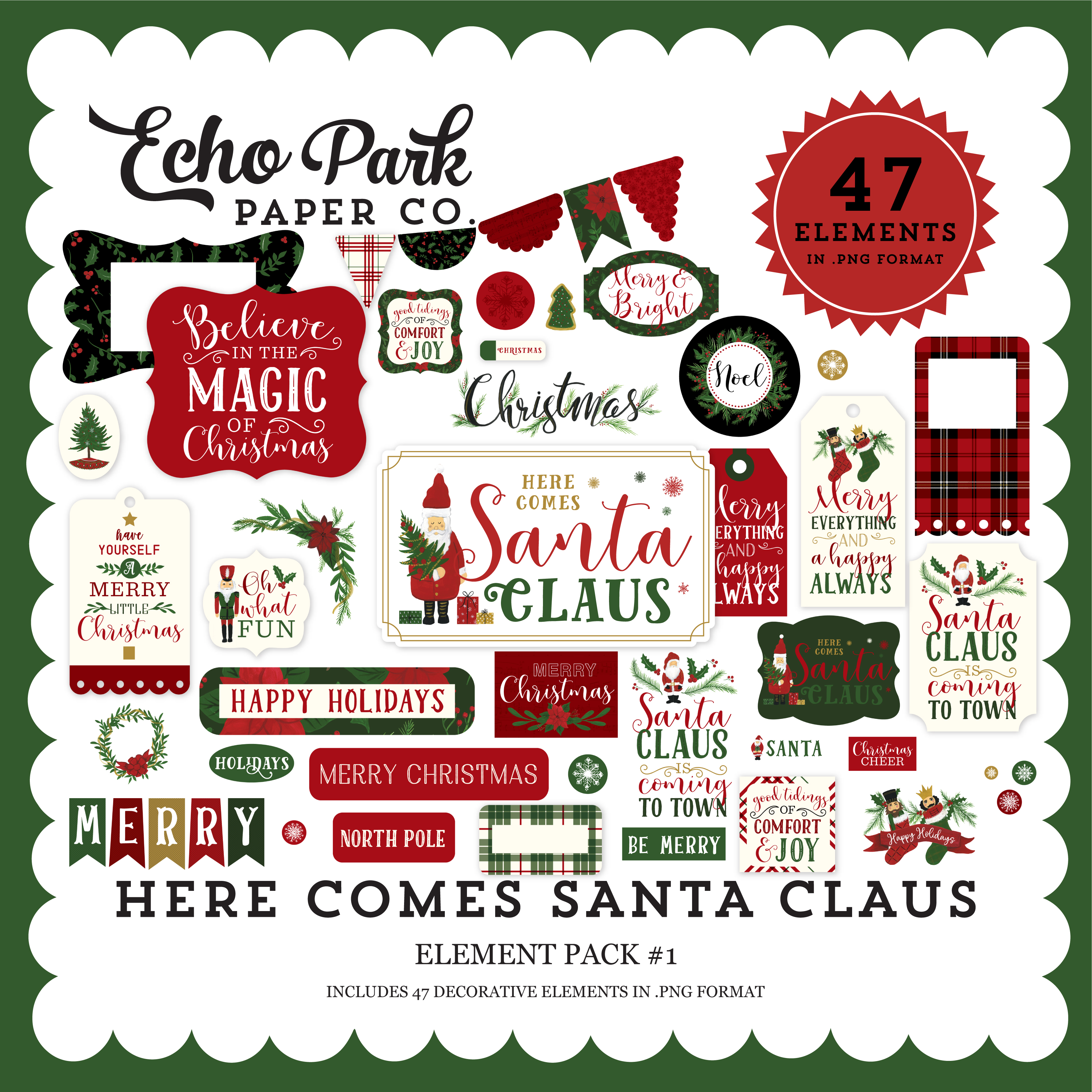 Here Comes Santa Claus Element Pack #1
