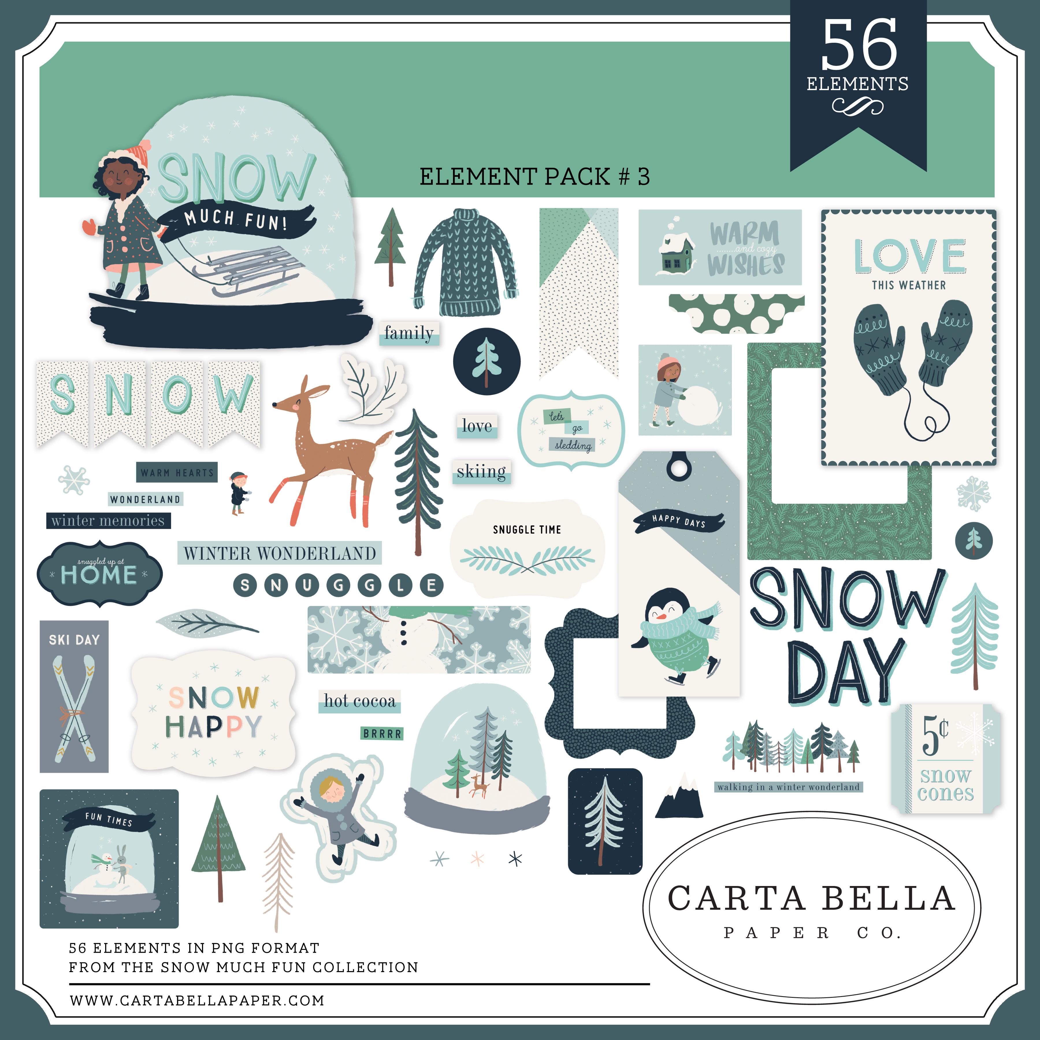 Snow Much Fun Element Pack #3