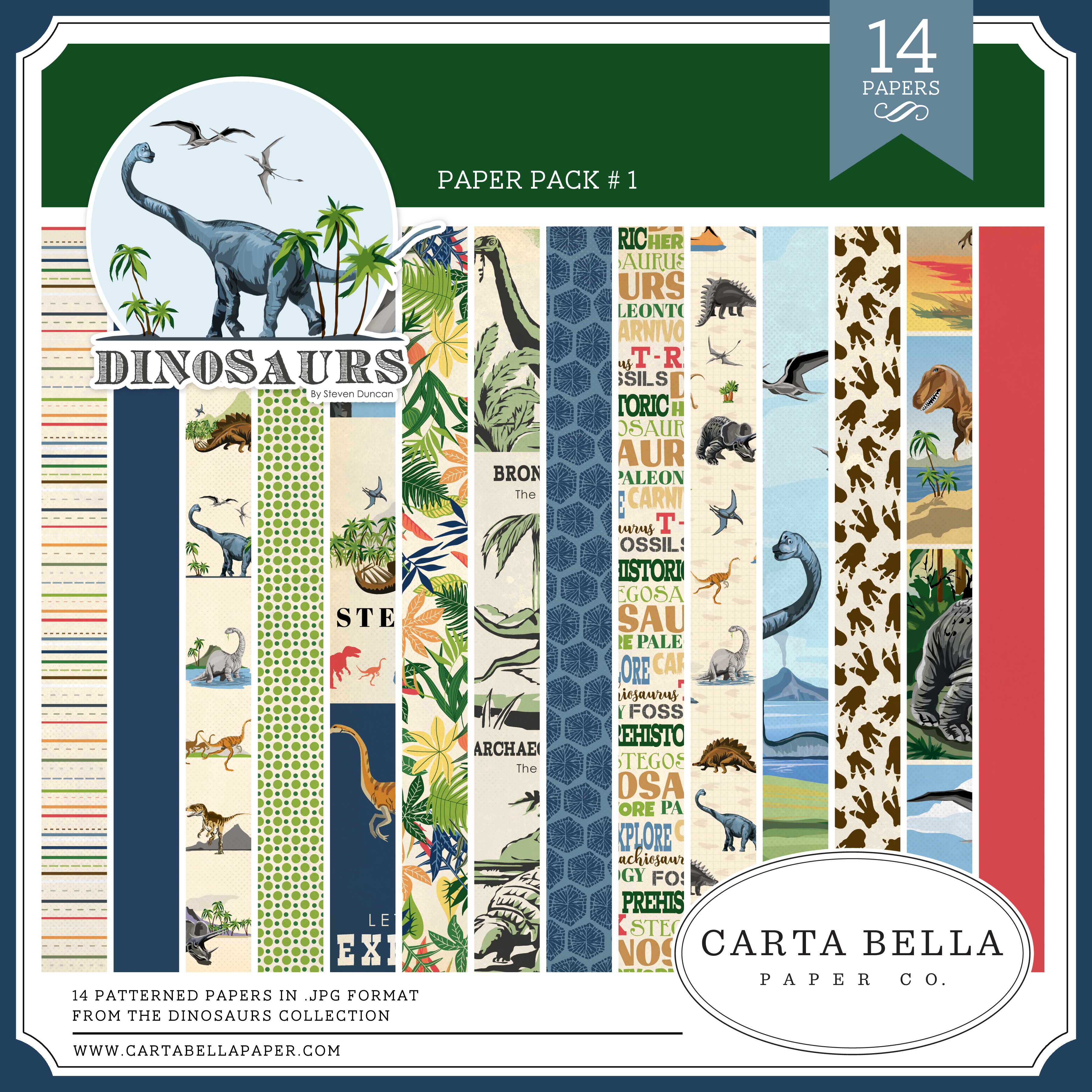 Dinosaurs Paper Pack #1