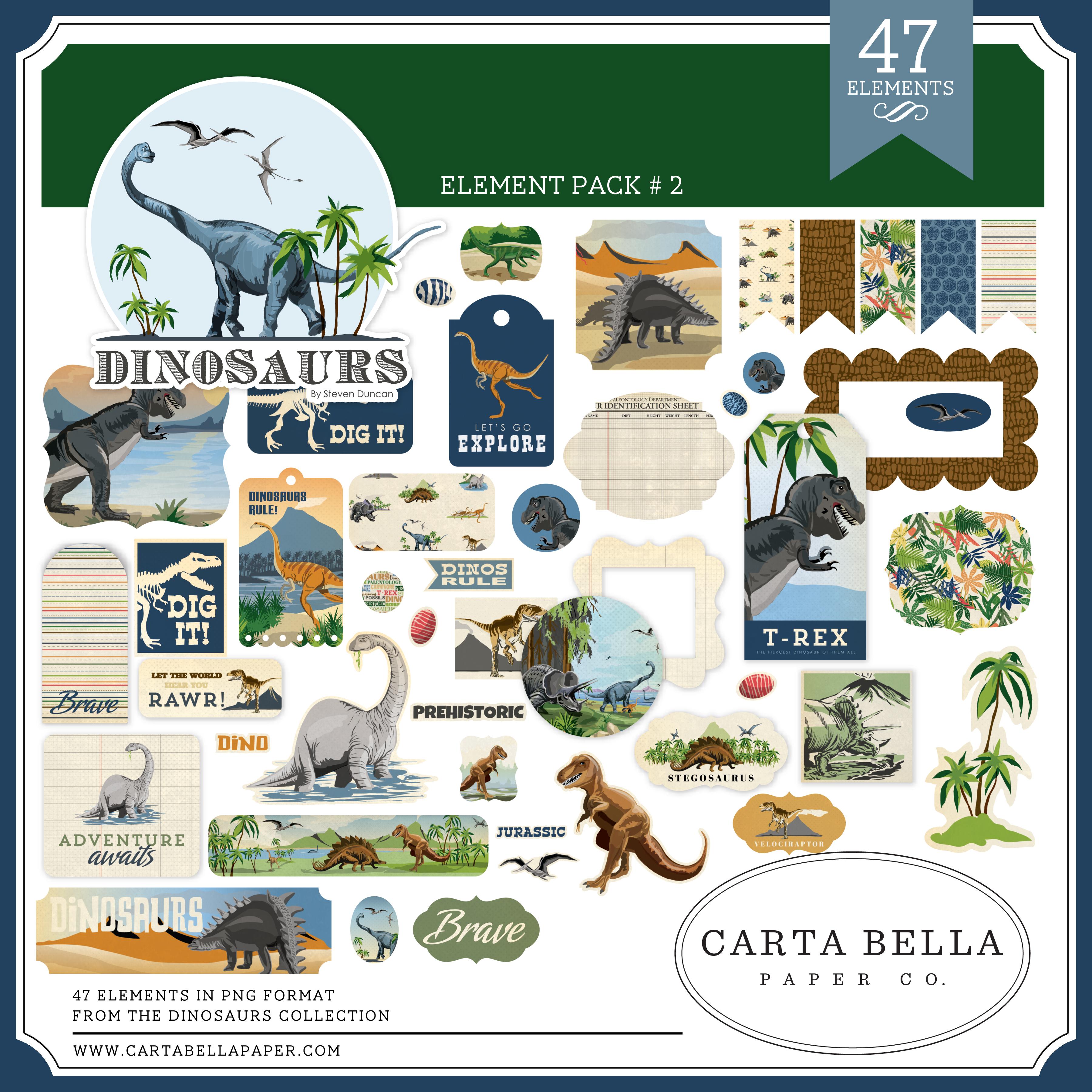 Dinosaurs Element Pack #2