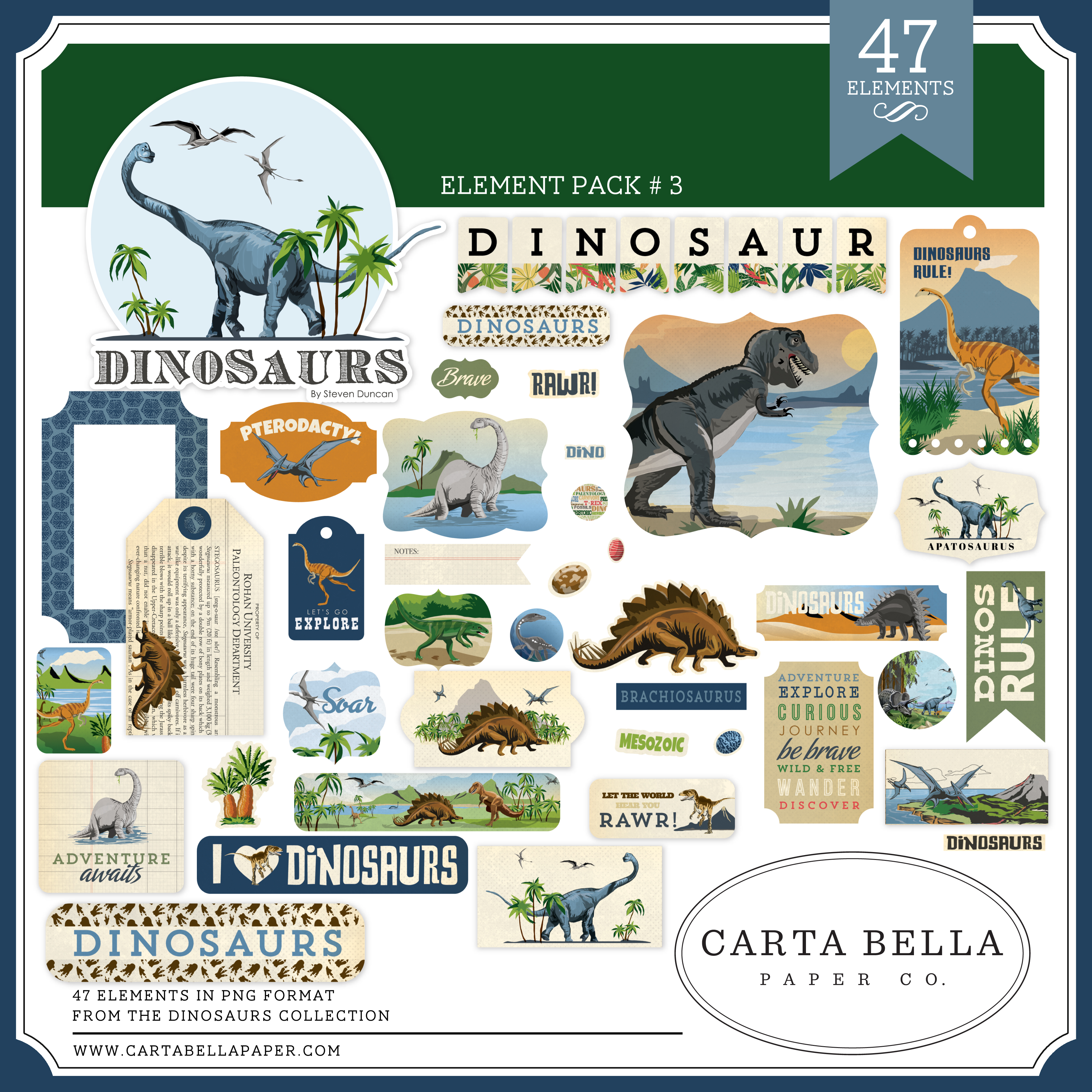 Dinosaurs Element Pack #3