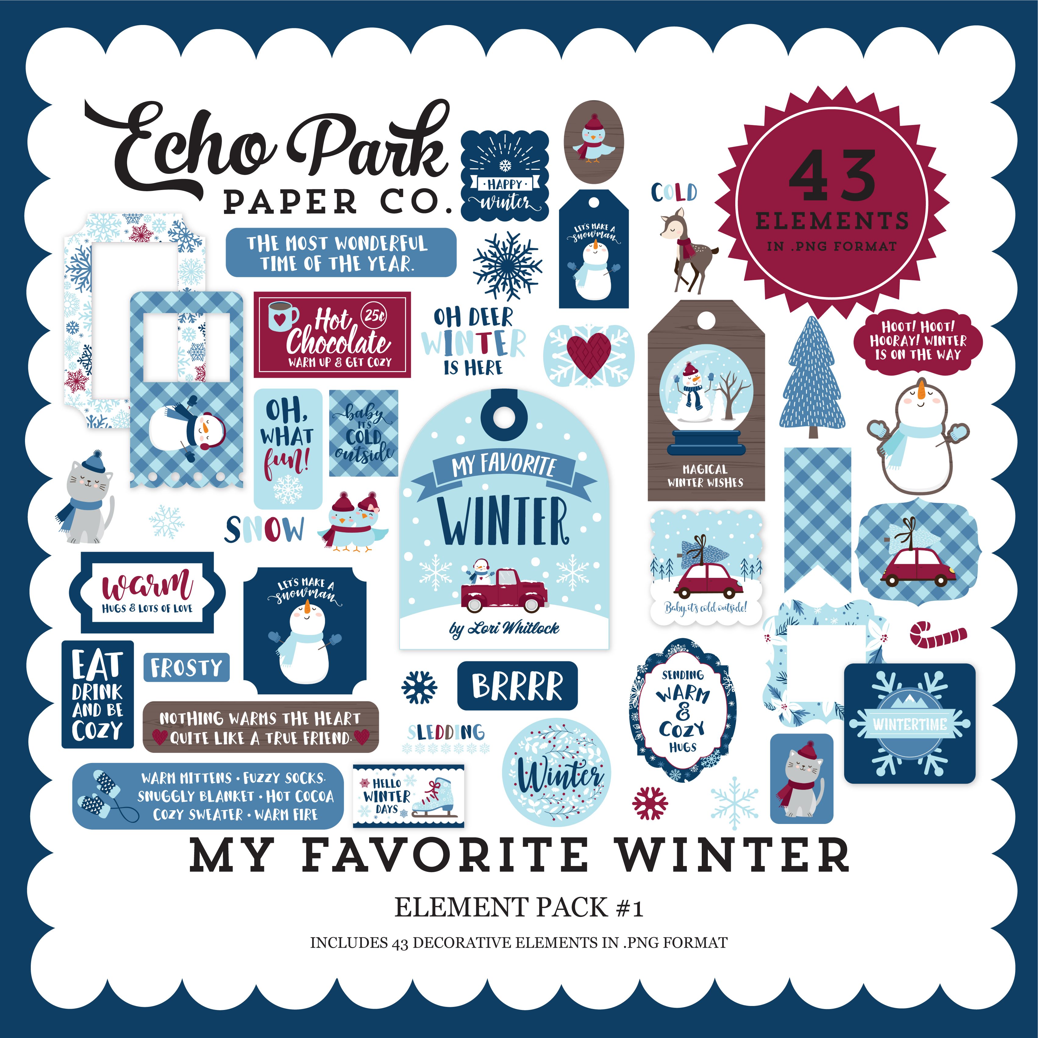 My Favorite Winter Element Pack #1