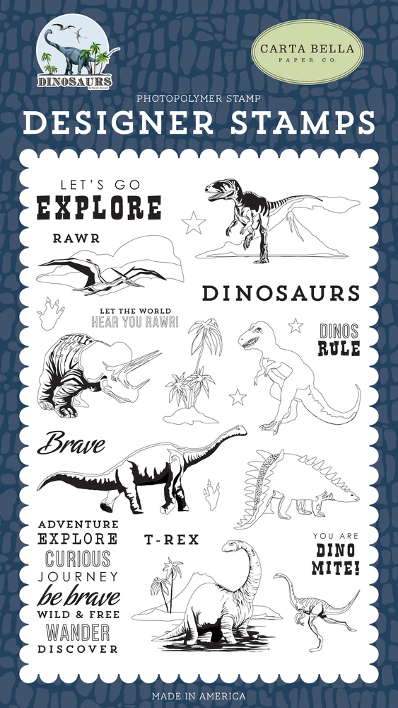 Dinos Rule Stamp Set