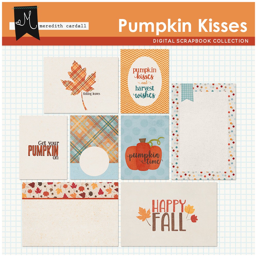 Pumpkin Kisses Card Pack