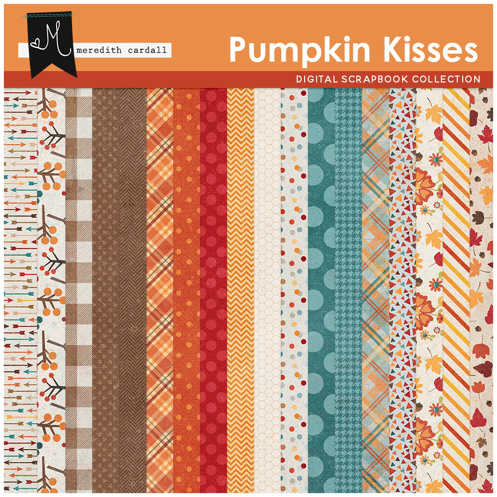 Pumpkin Kisses Paper Pack