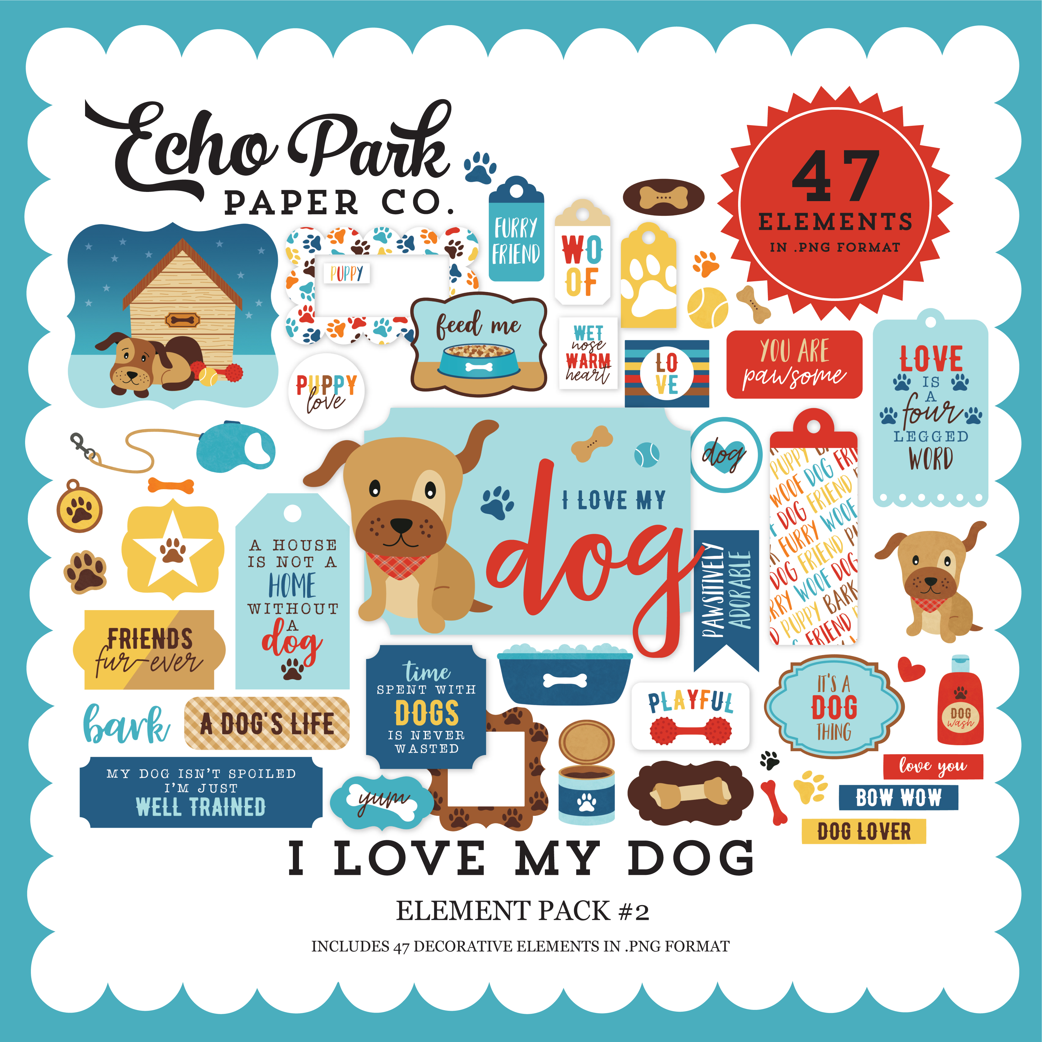 I Love My Dog Element Pack #2