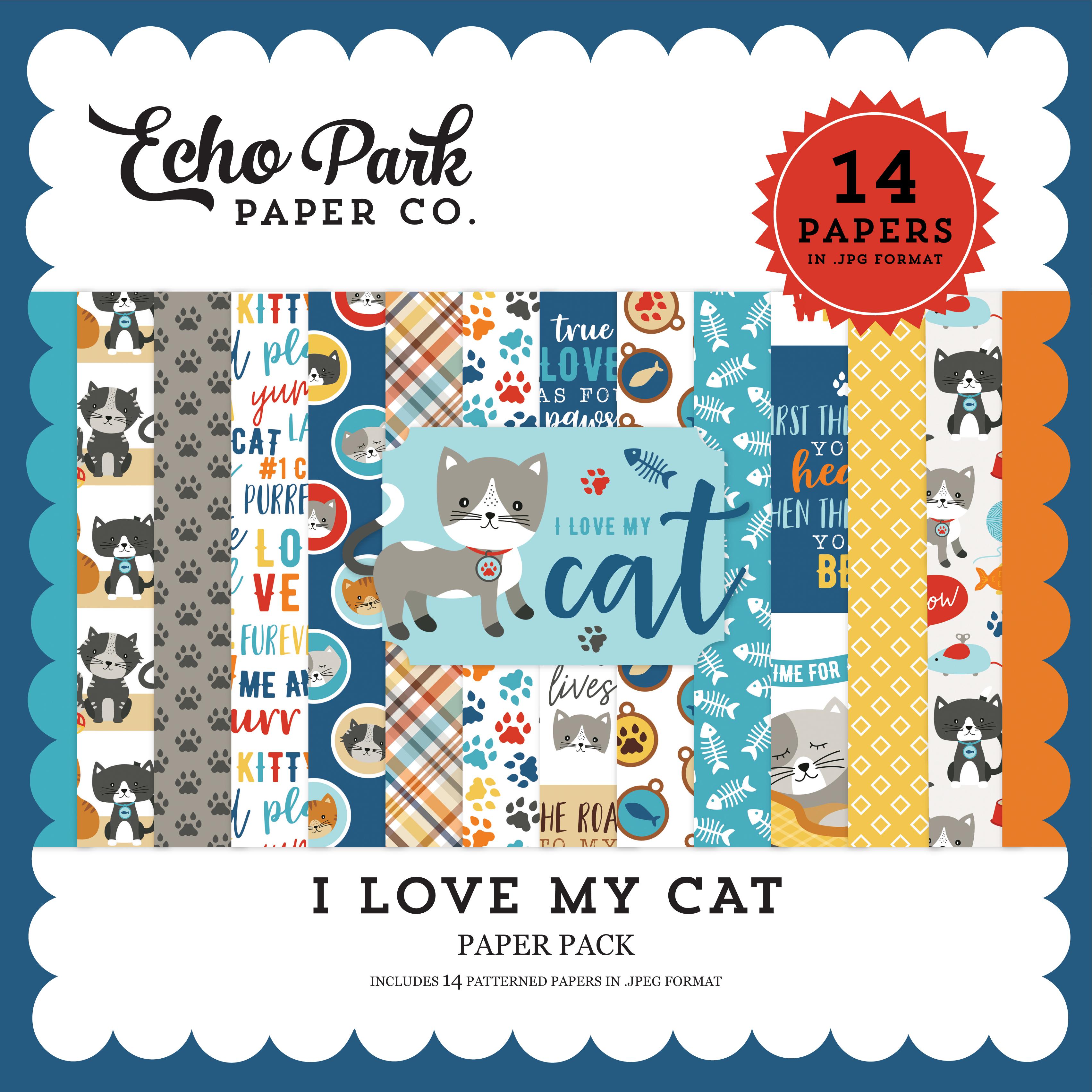 I Love My Cat Paper Pack
