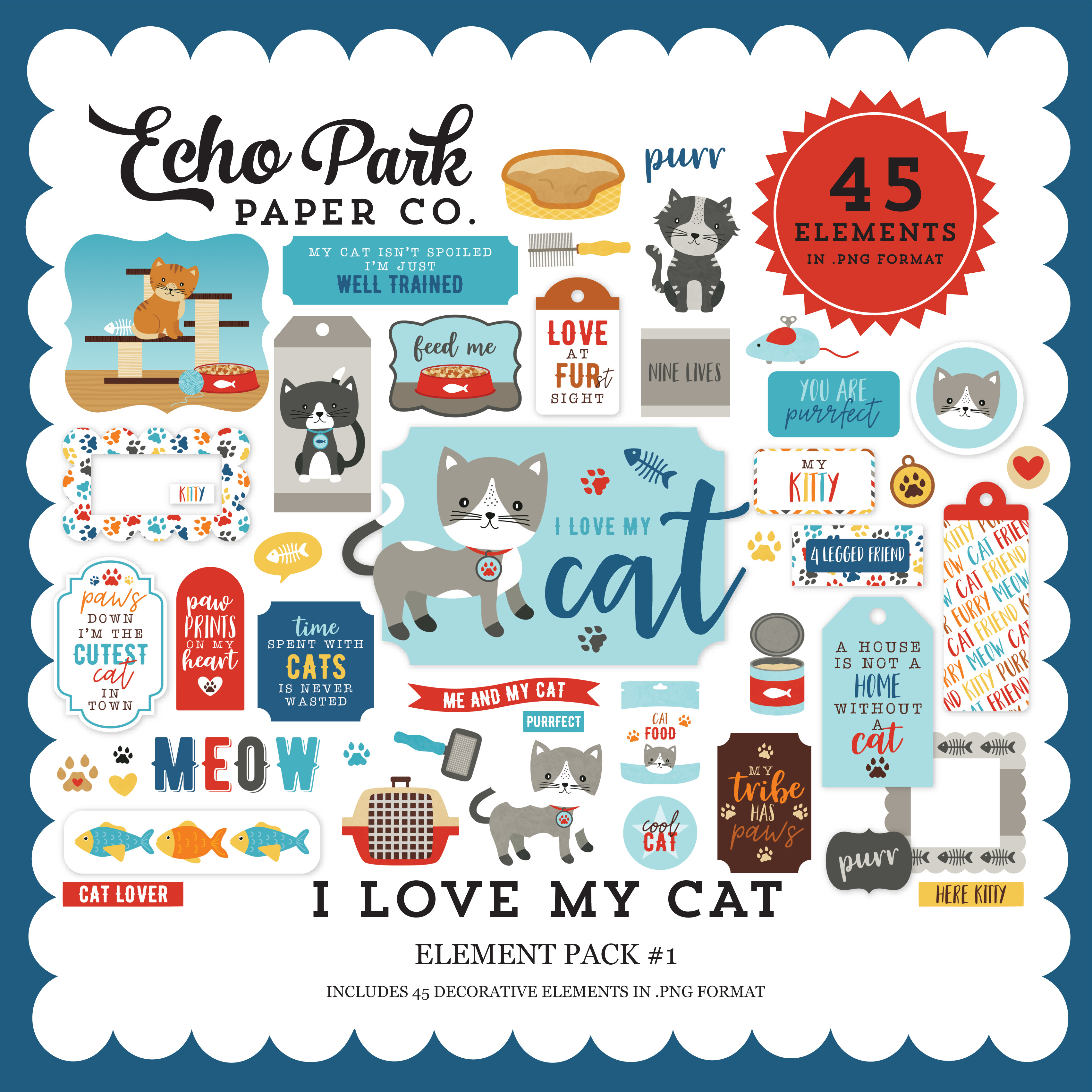 I Love My Cat Element Pack #1