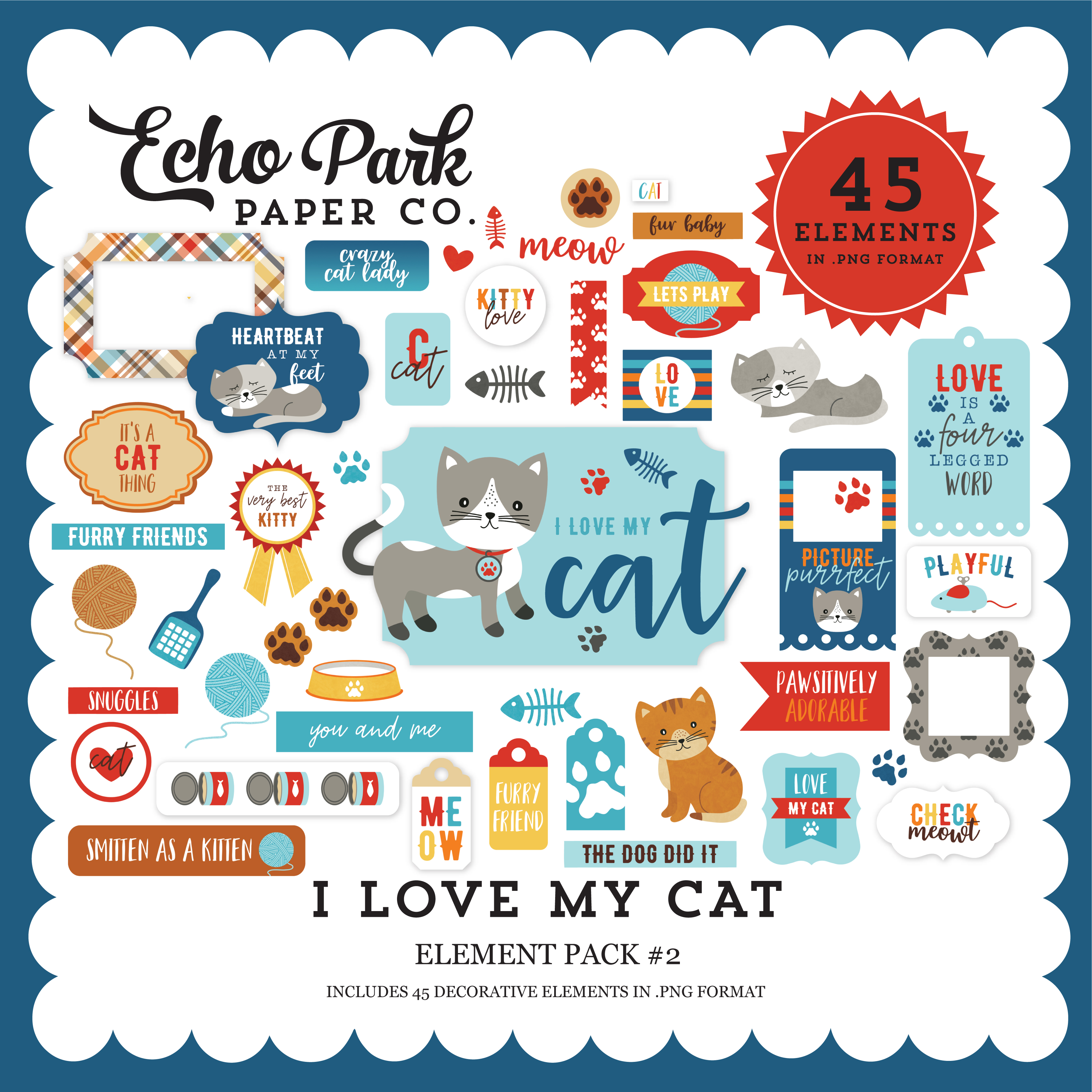 I Love My Cat Element Pack #2