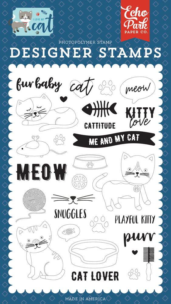 Kitty Love Stamp Set
