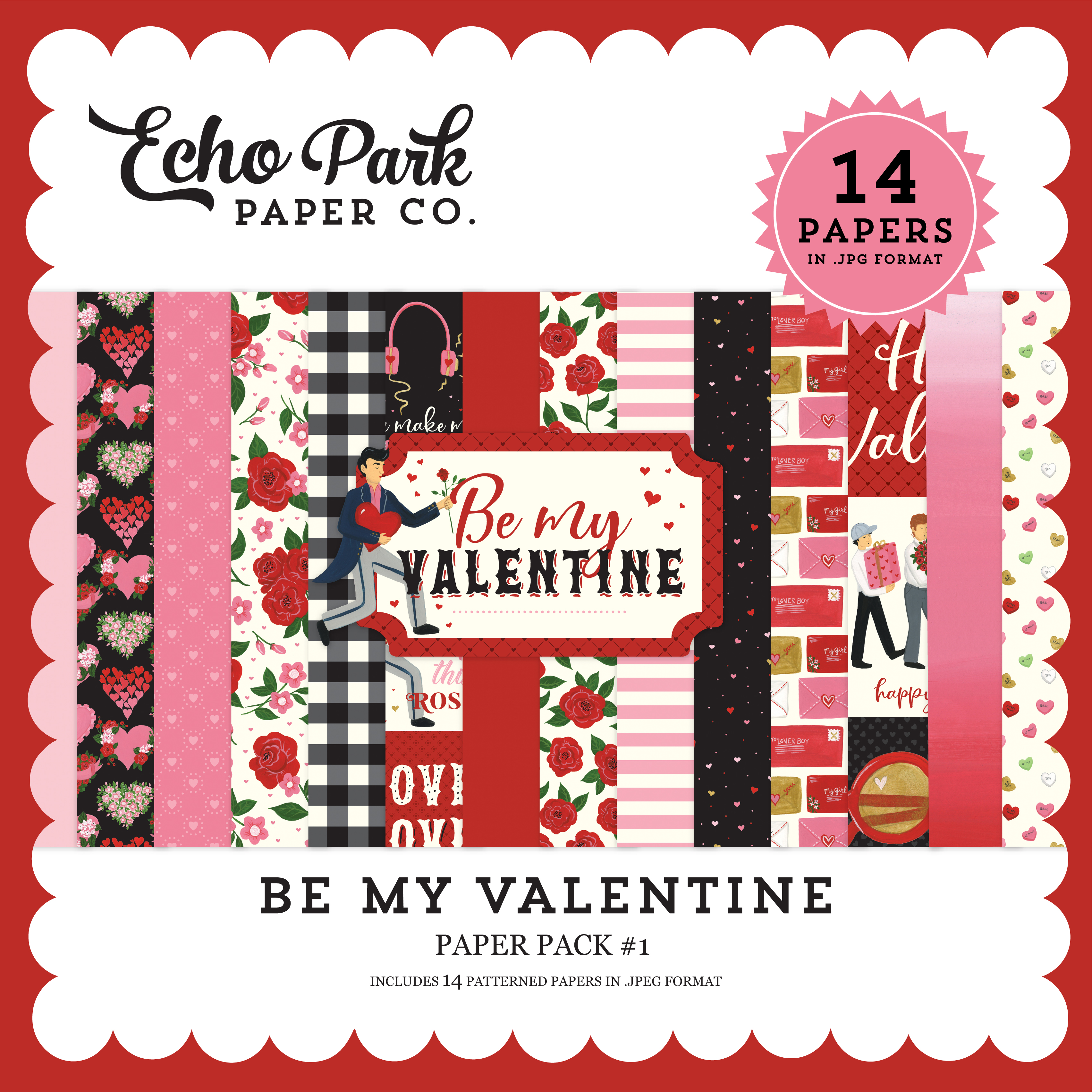 Be My Valentine Paper Pack #1