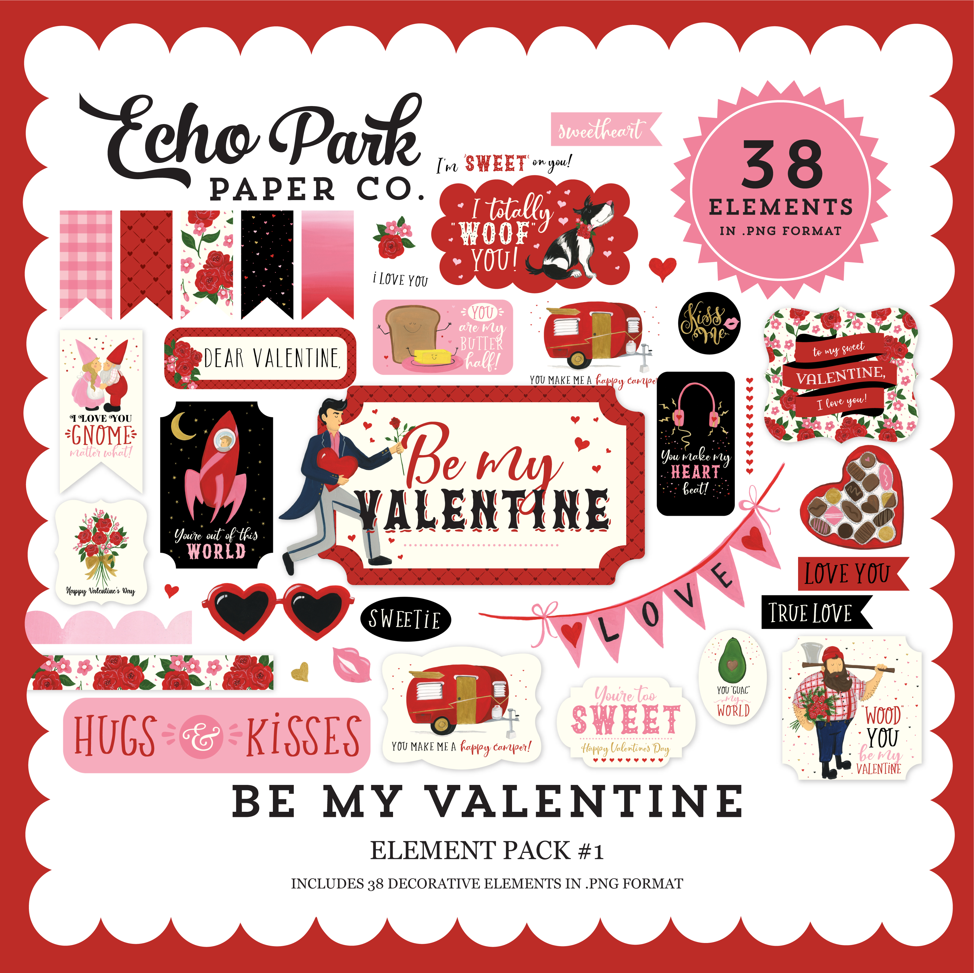 Be My Valentine Element Pack #1