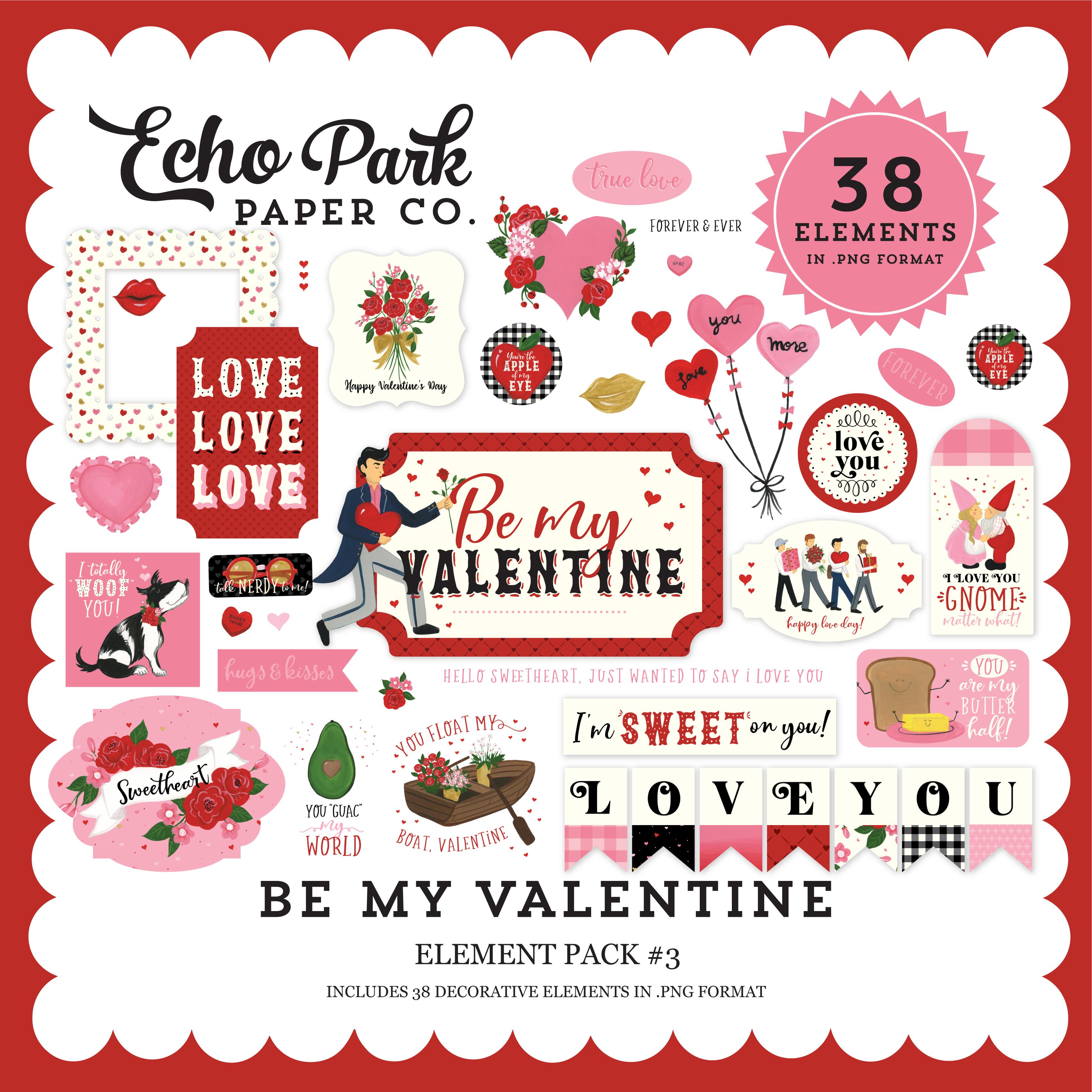Be My Valentine Element Pack #3