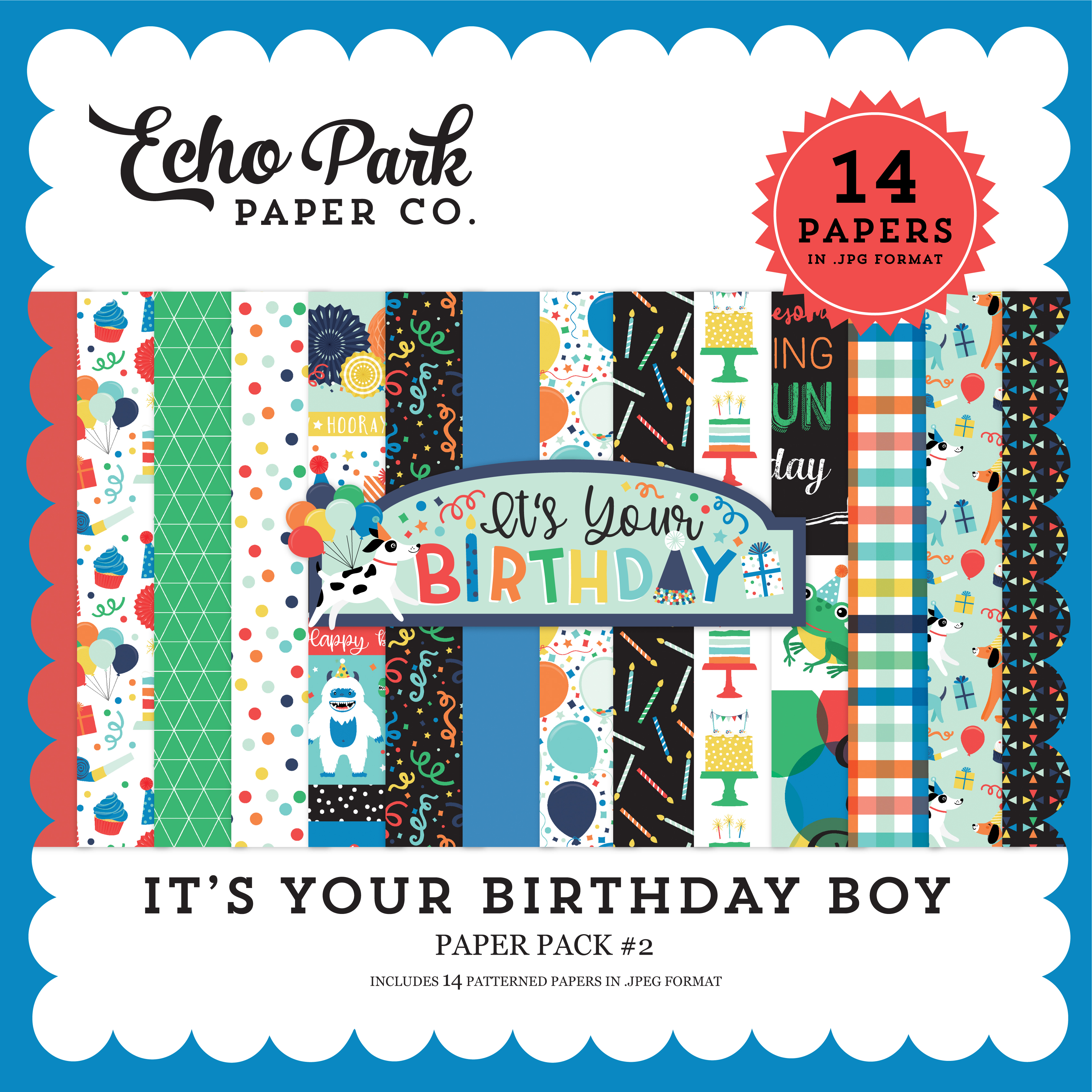 It's Your Birthday Boy Paper Pack #2