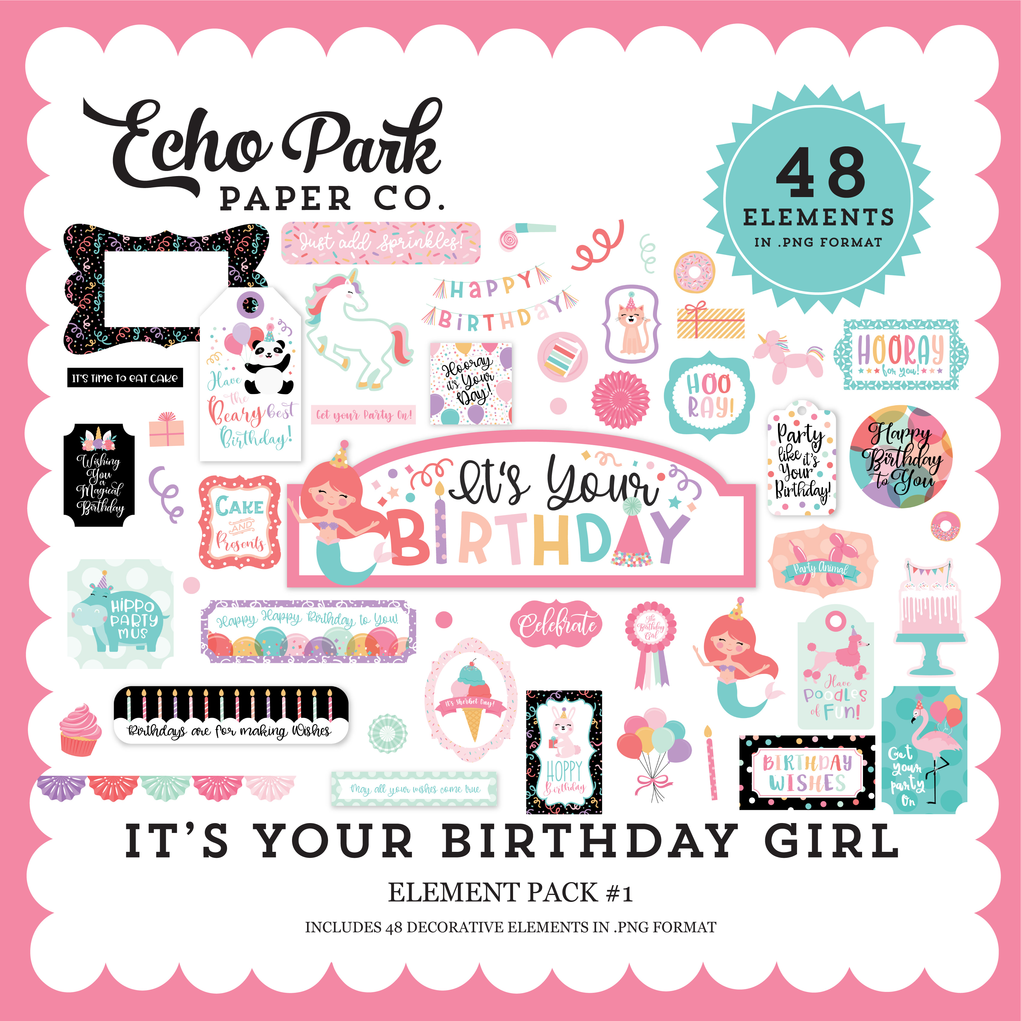 It's Your Birthday Girl Element Pack #1