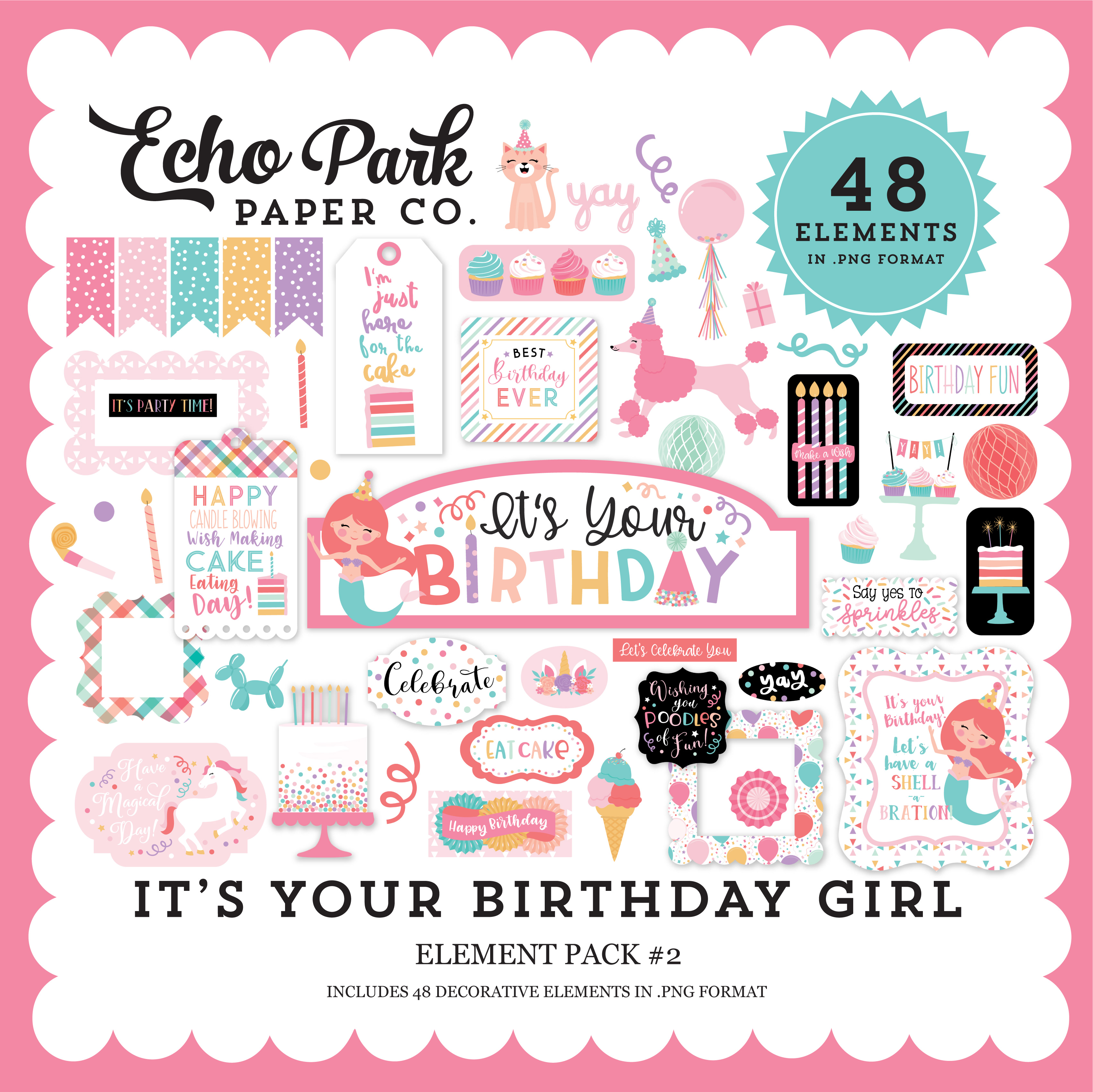 It's Your Birthday Girl Element Pack #2
