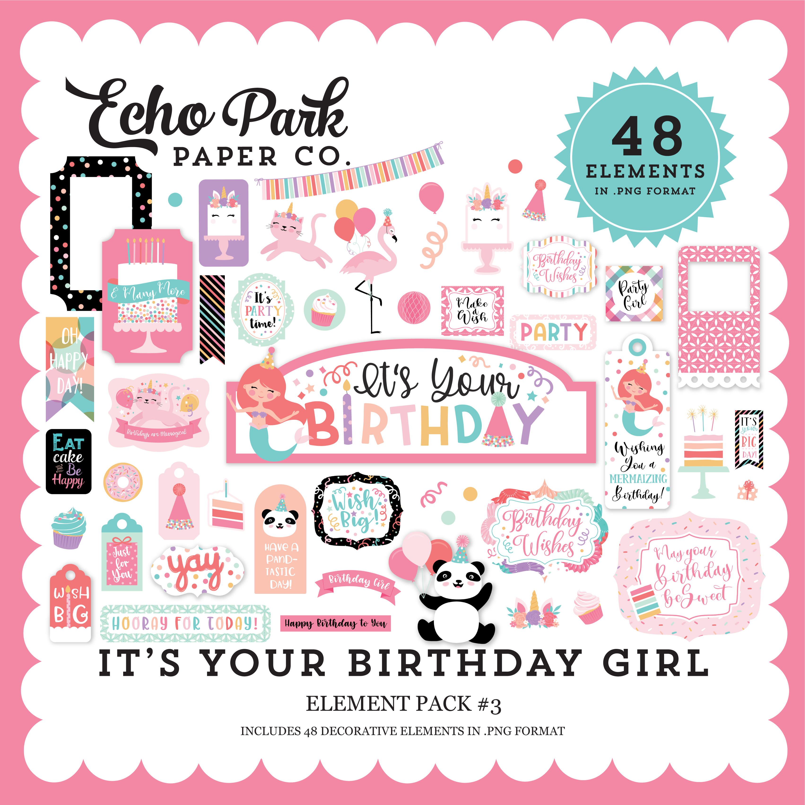 It's Your Birthday Girl Element Pack #3