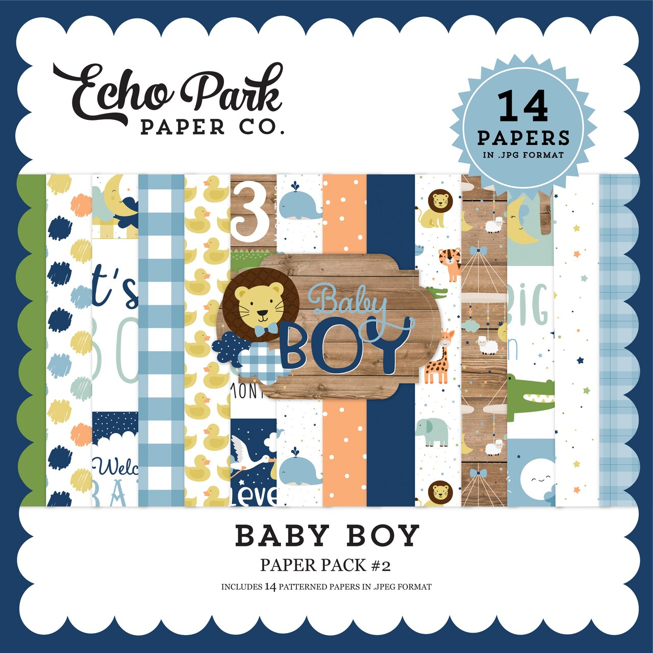Baby Boy Paper Pack #2
