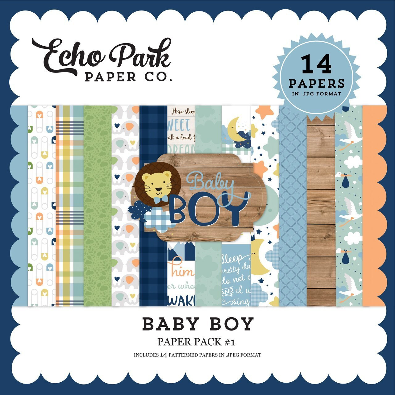 Baby Boy Paper Pack #1