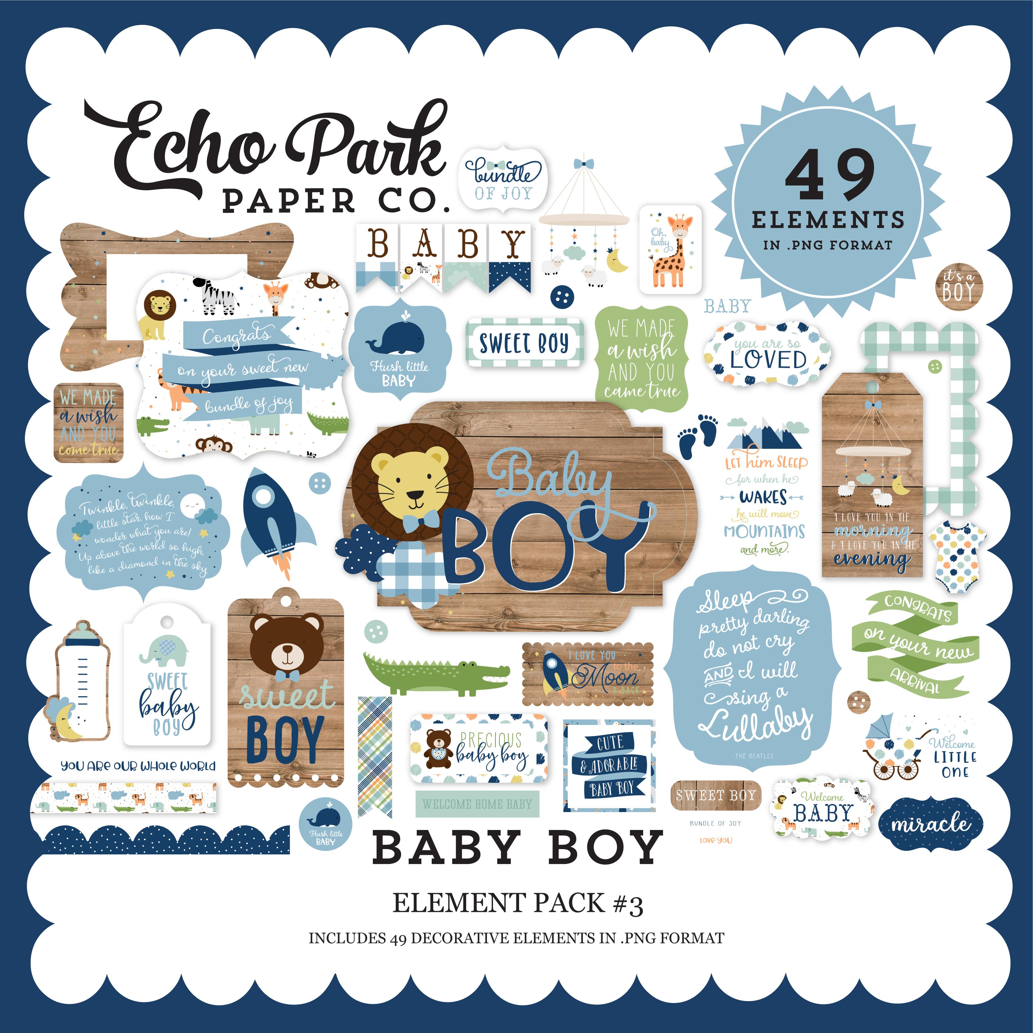 Baby Boy Element Pack #3