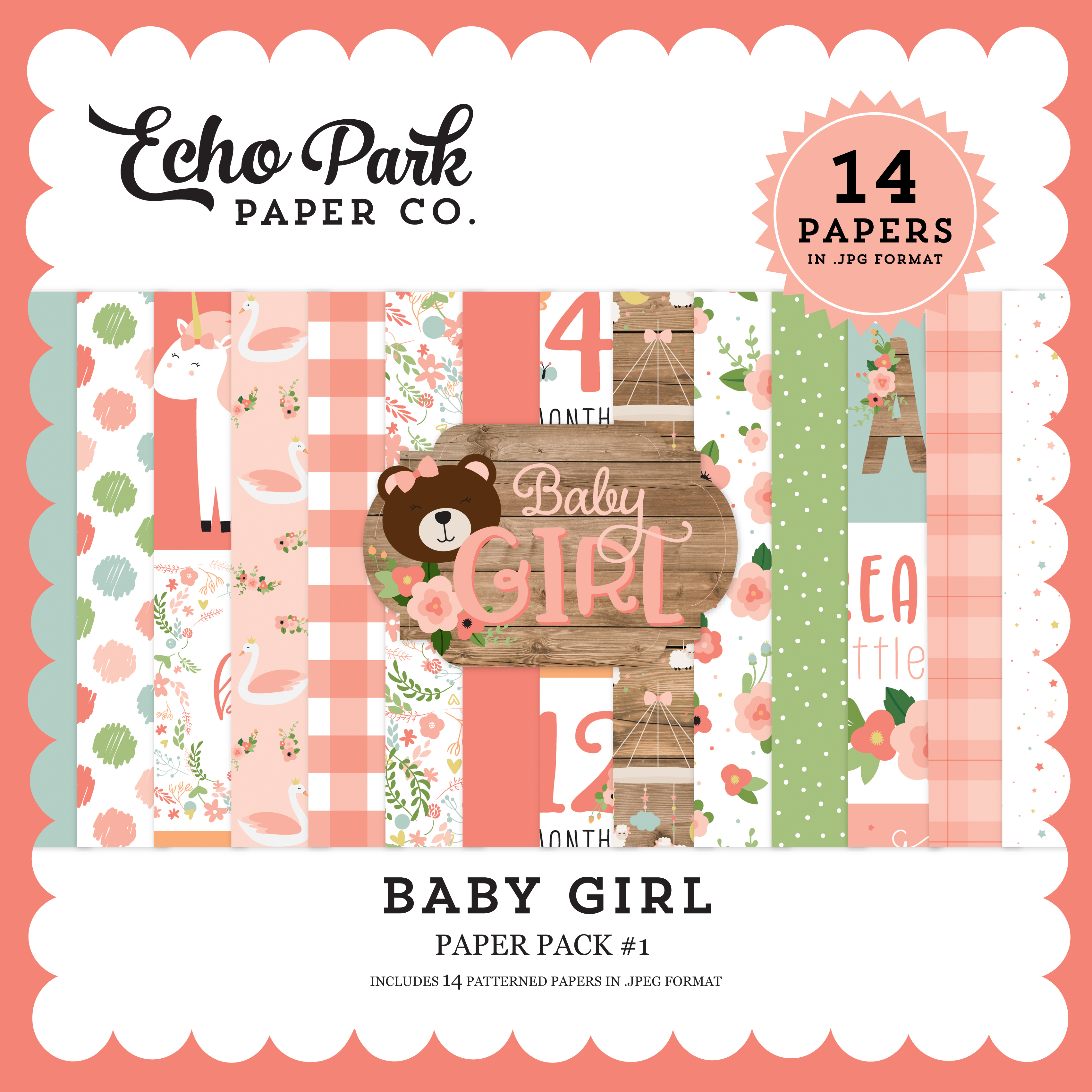 Baby Girl Paper Pack #1