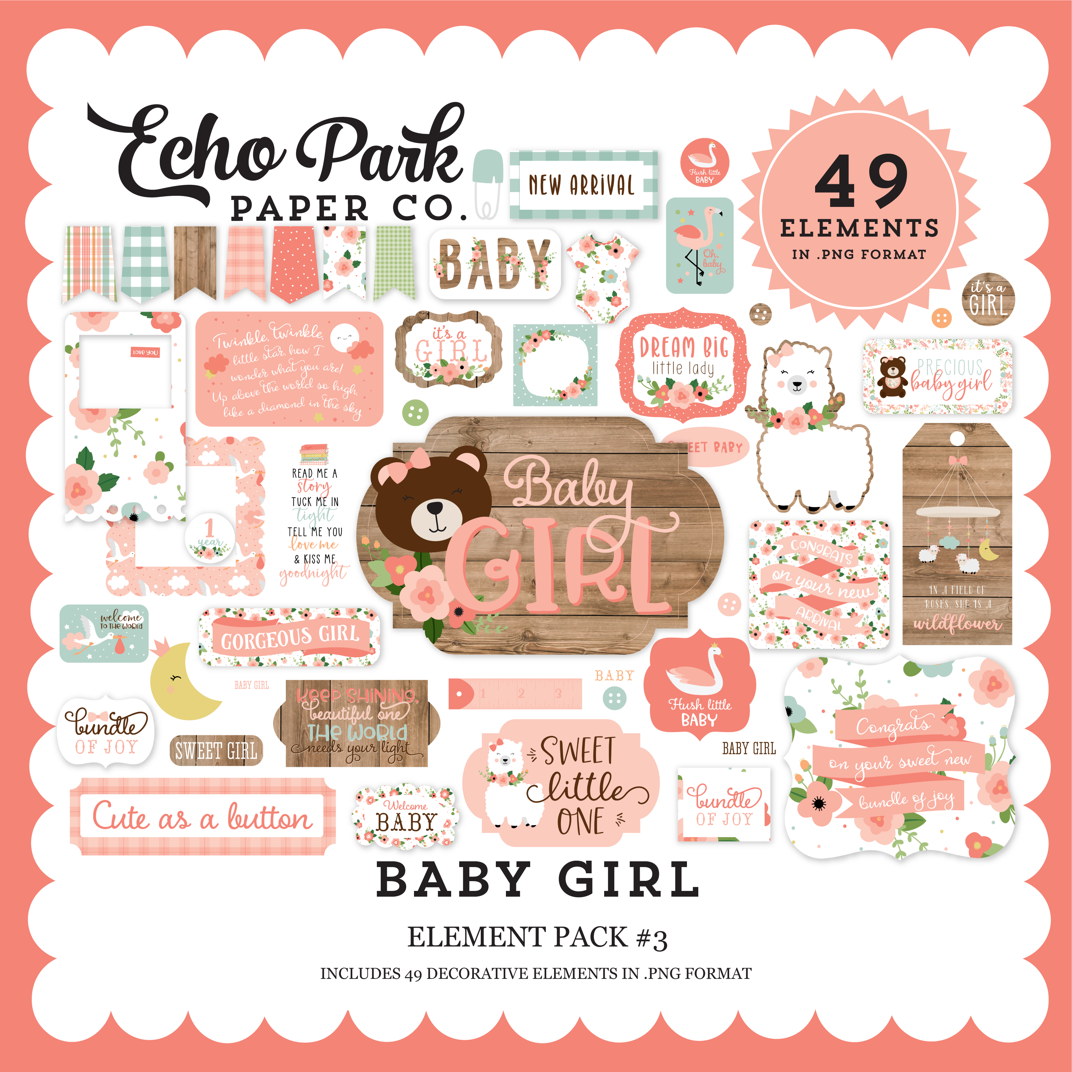 Baby Girl Element Pack #3