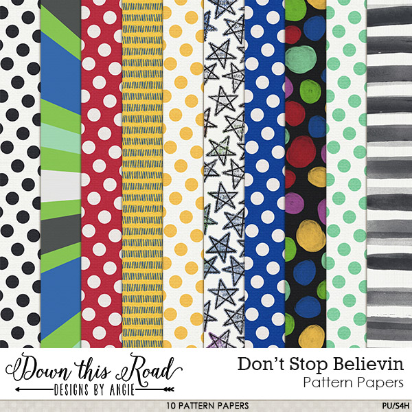 Don't Stop Believin' | Pattern Papers
