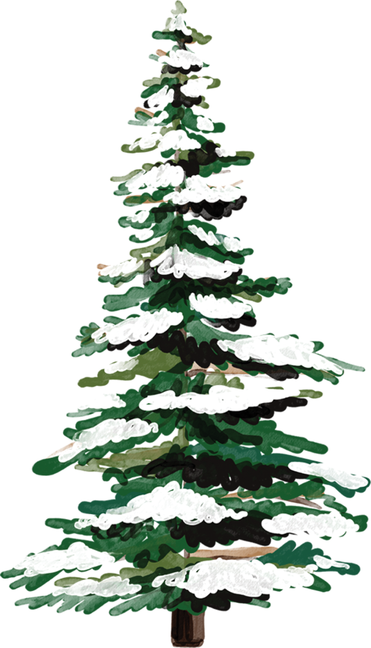 Tree With Snow Print & Cut File