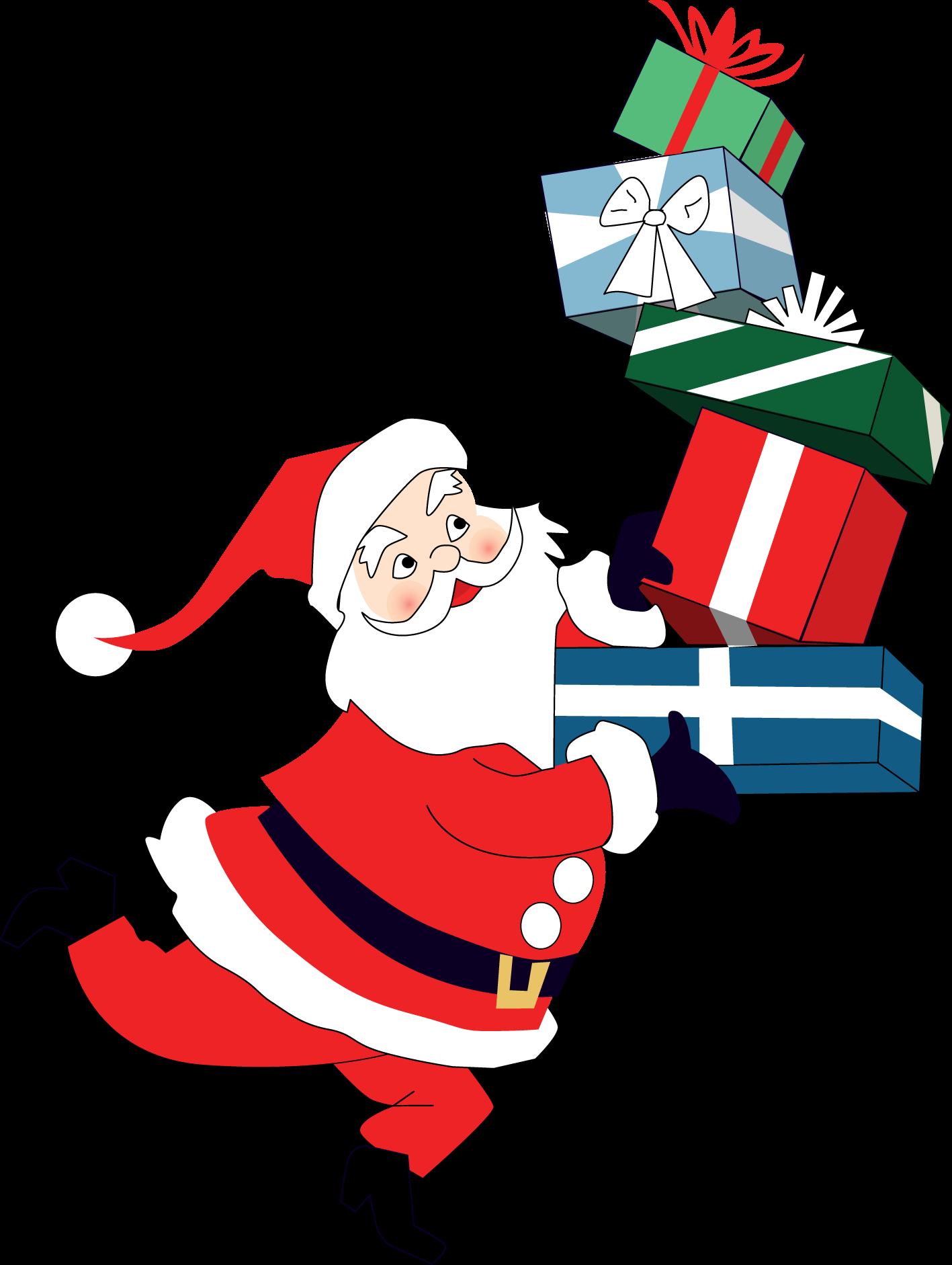 Merry Christmas Santa Print & Cut File