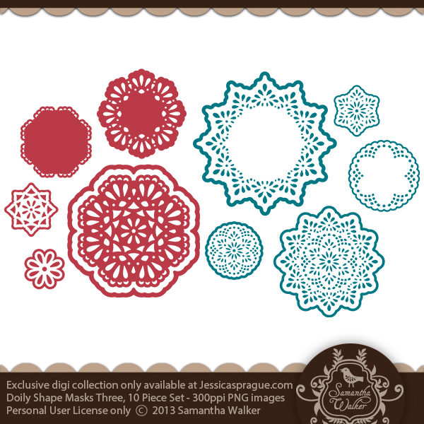 Doily Shape Mask Set Three