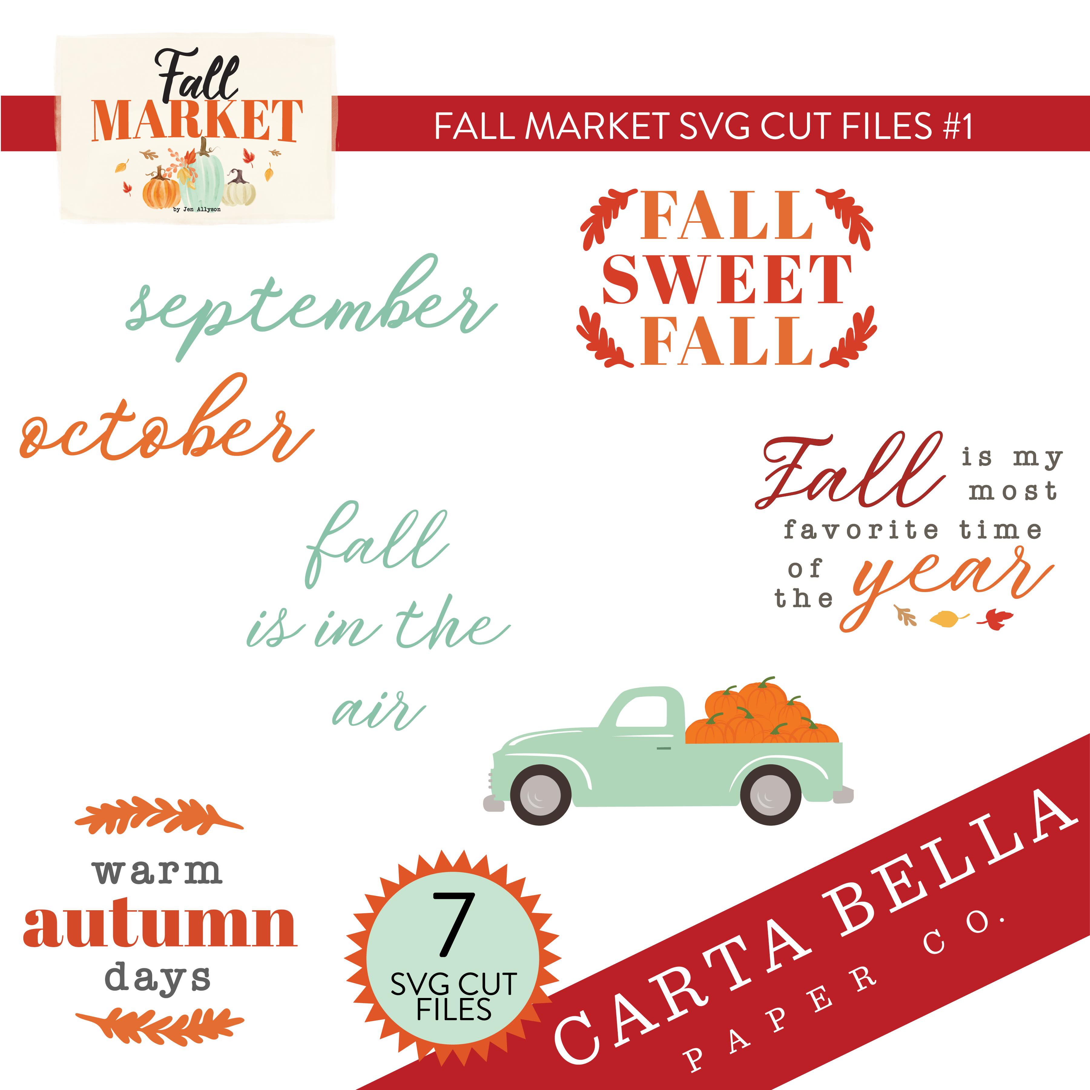 Fall Market SVG Cut Files #1