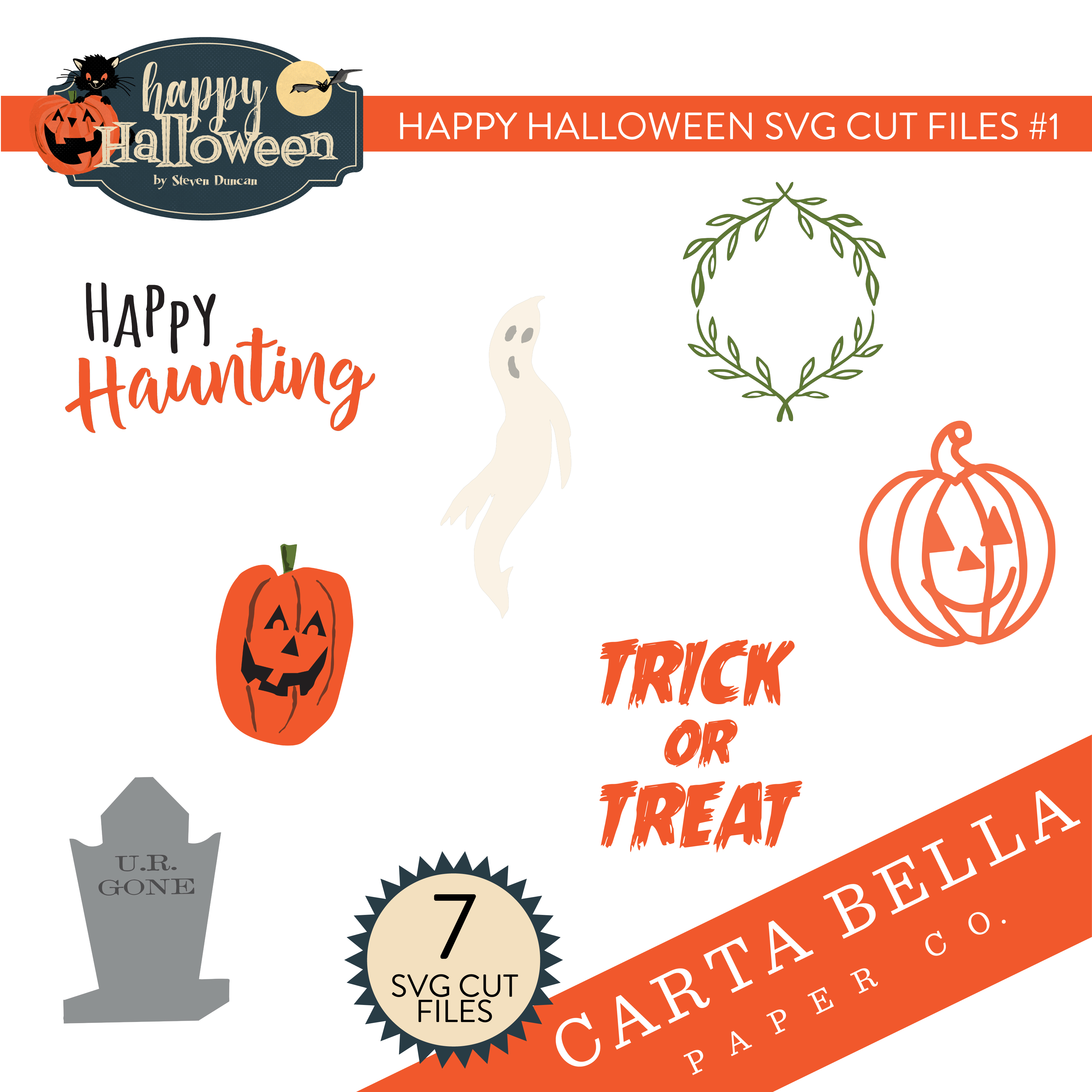 Happy Halloween SVG Cut Files #1