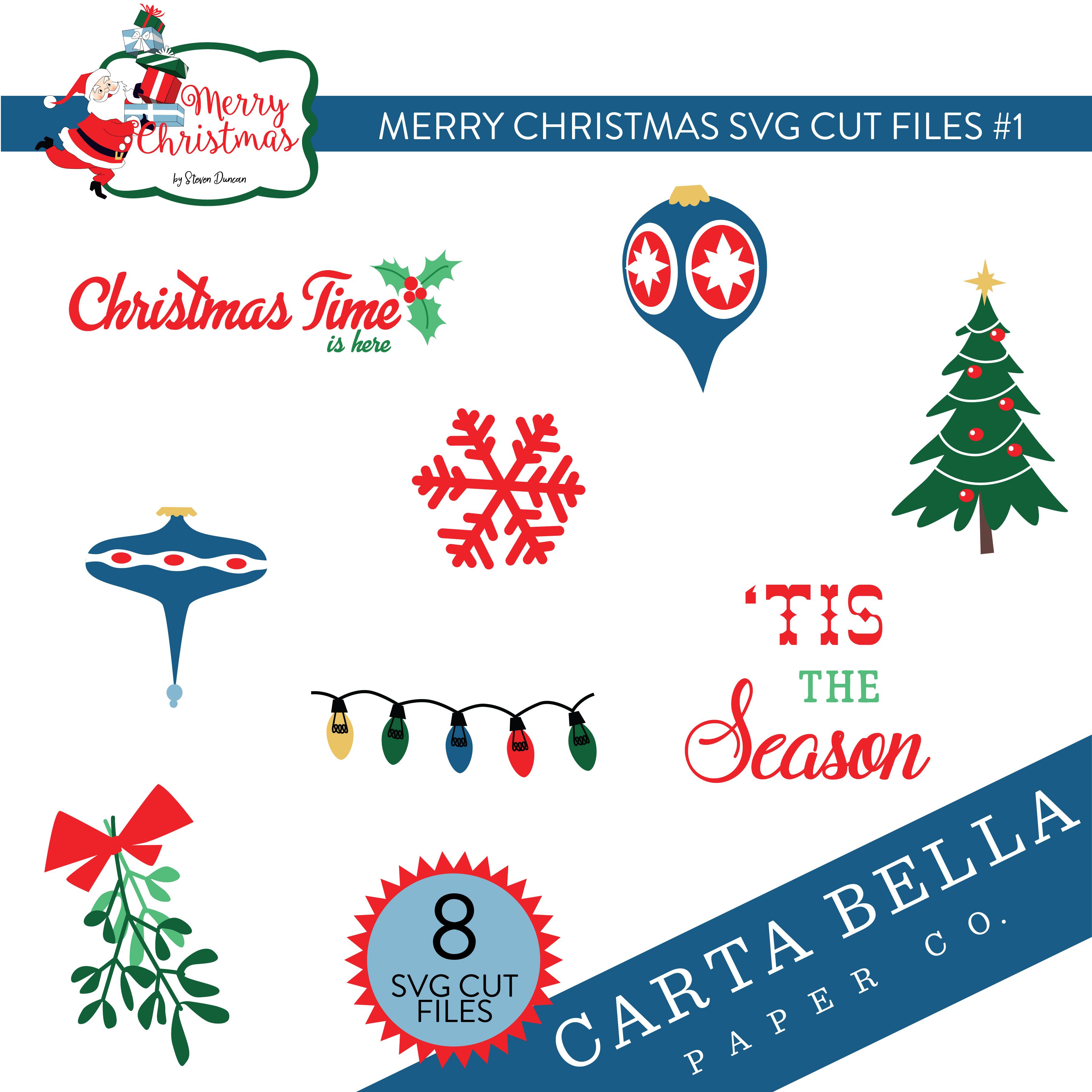 Merry Christmas SVG Cut Files #1