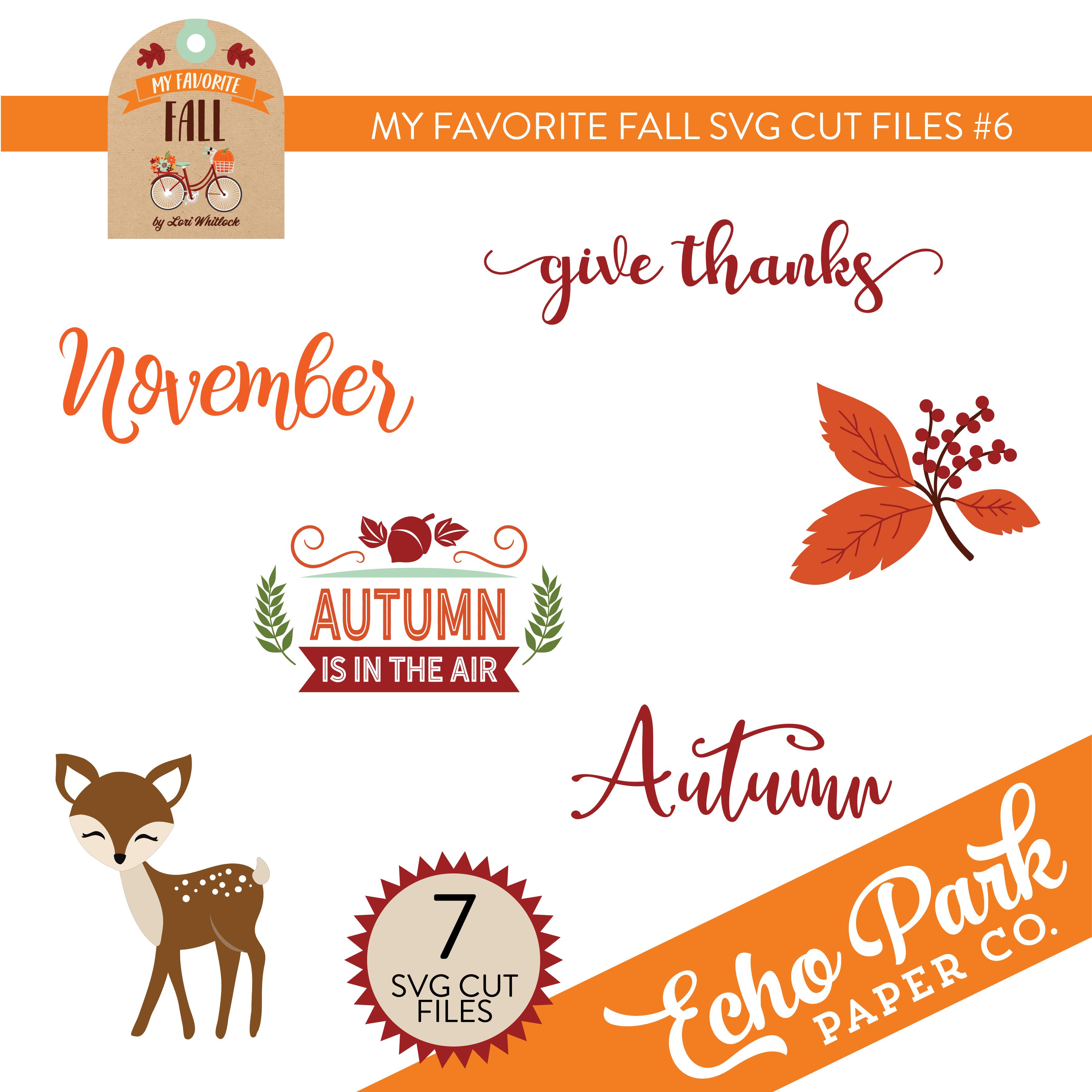 My Favorite Fall SVG Cut Files #6