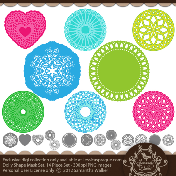 Doily Shape Mask Set