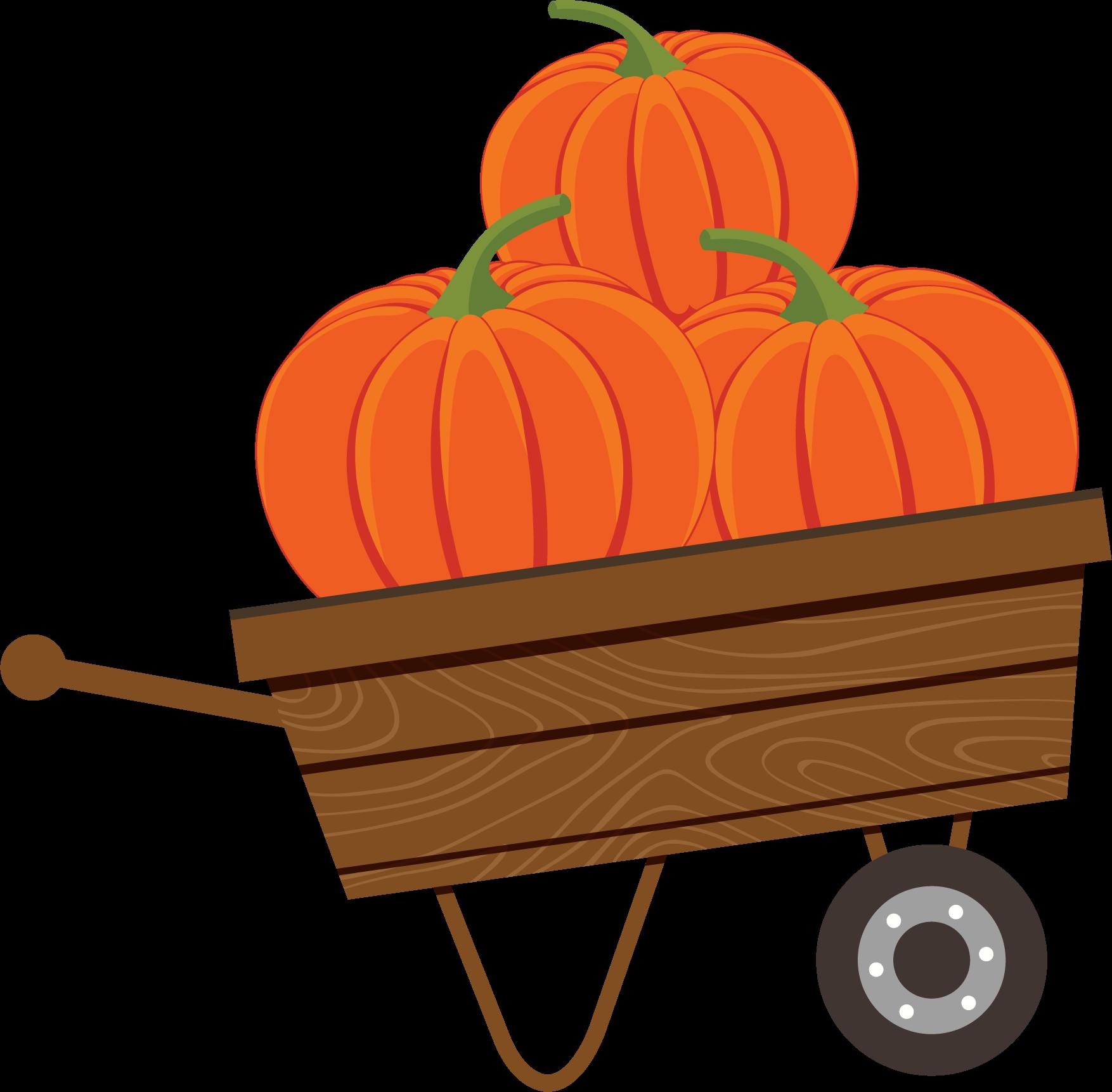 Pumpkin Cart Print & Cut File