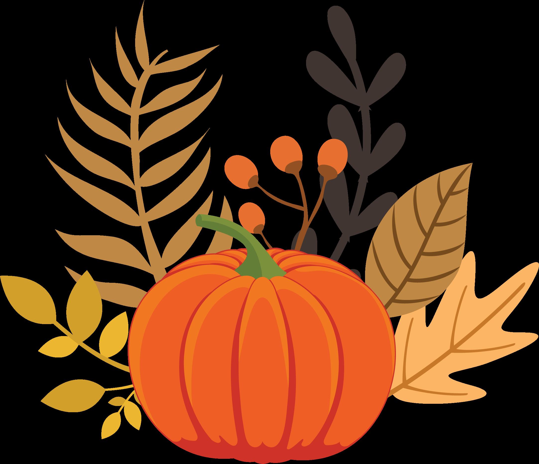 Pumpkin and Leaves Print & Cut File