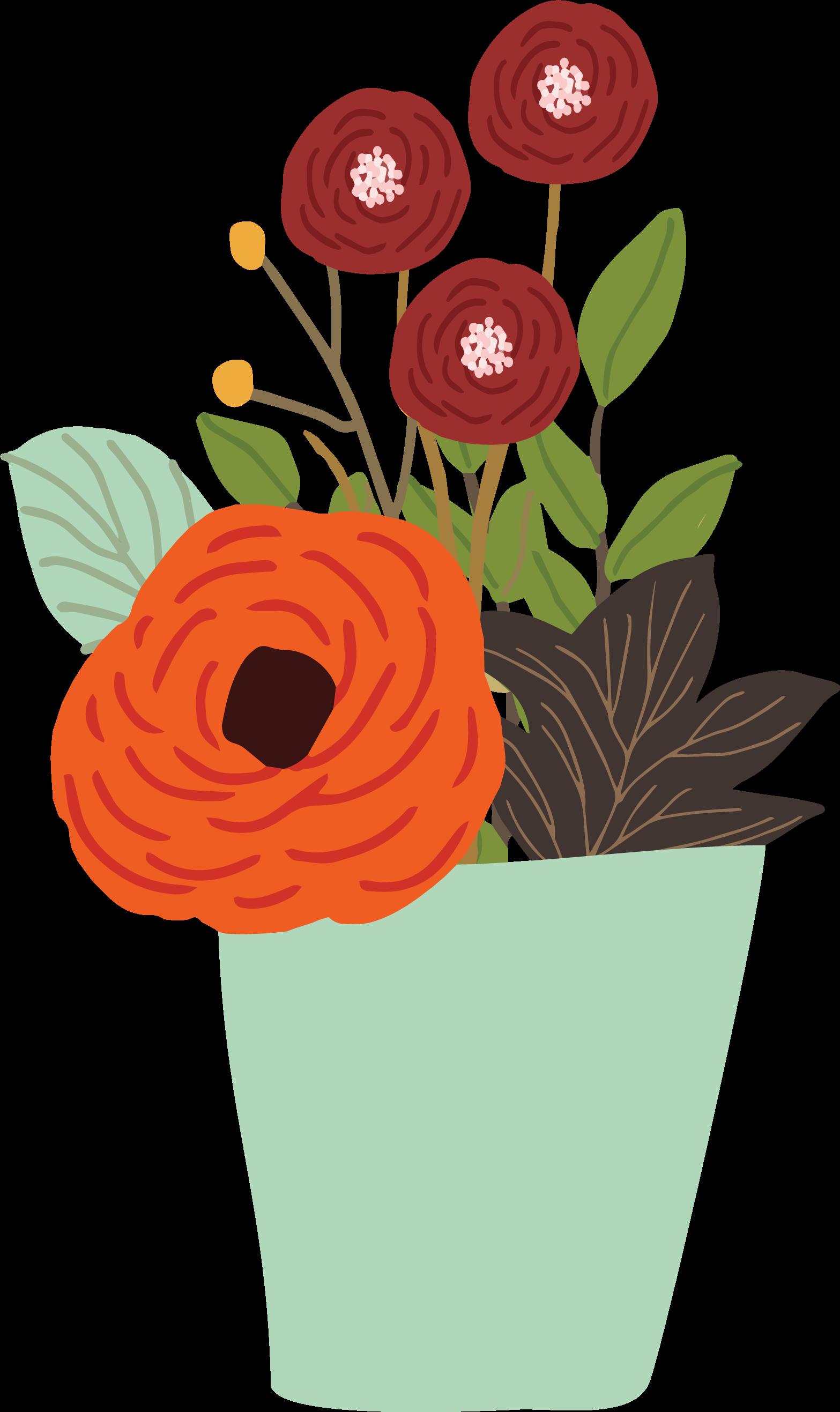 Fall Flowers Print & Cut File