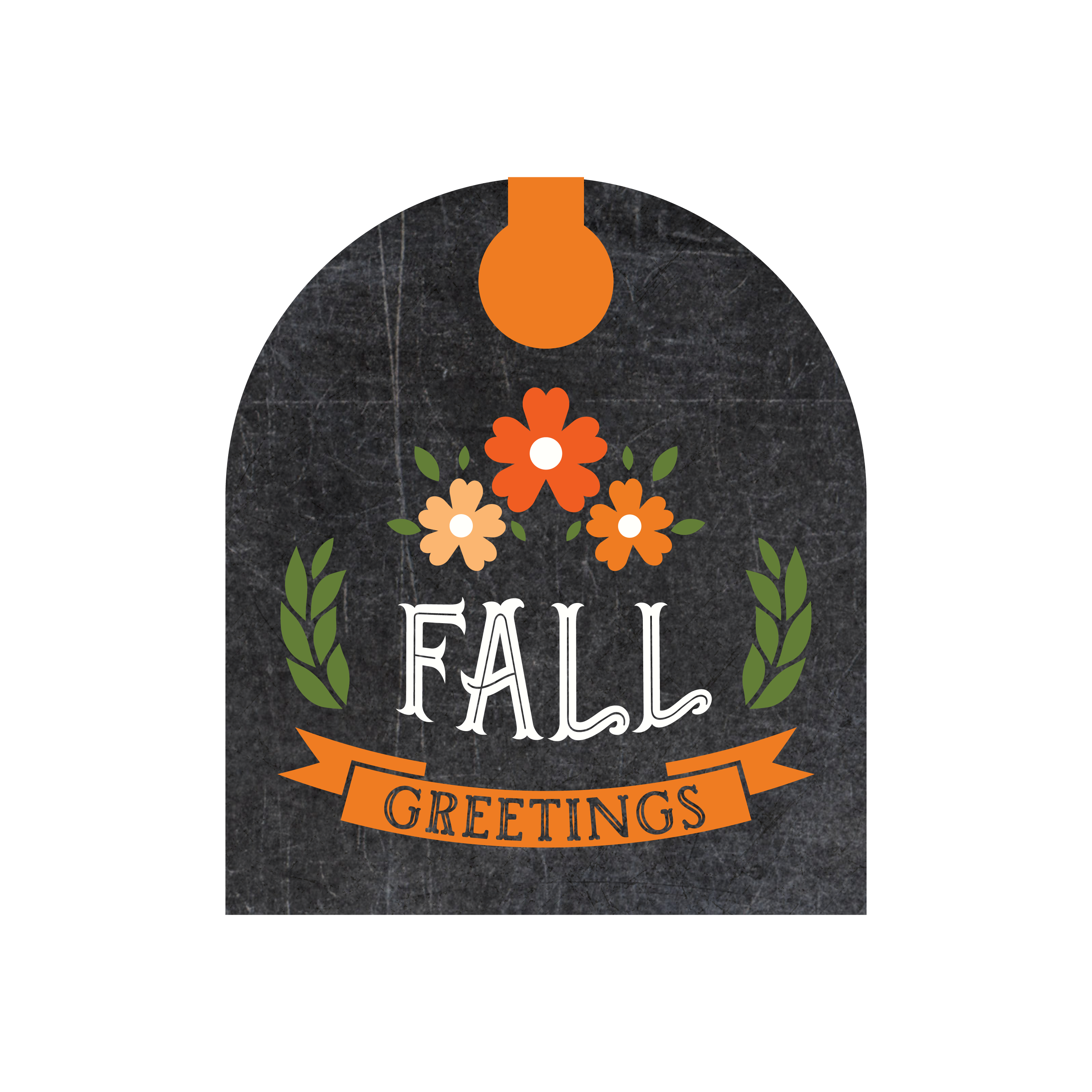 Fall Greetings Tag Print & Cut File