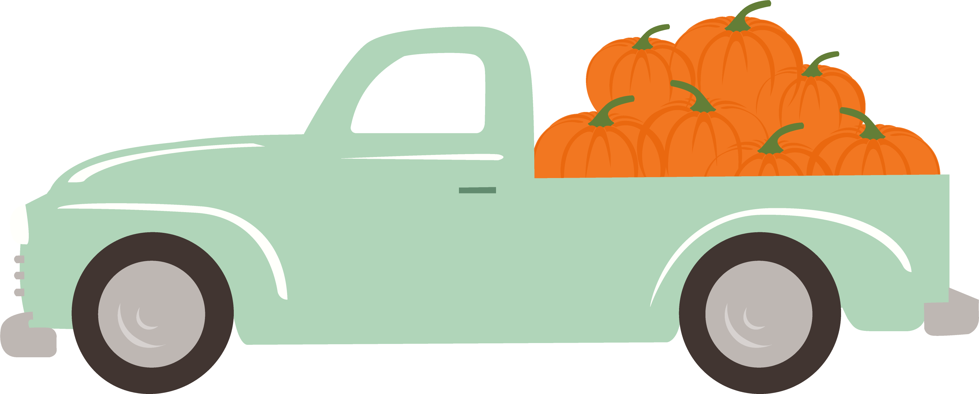 Fall Market Truck SVG Cut File