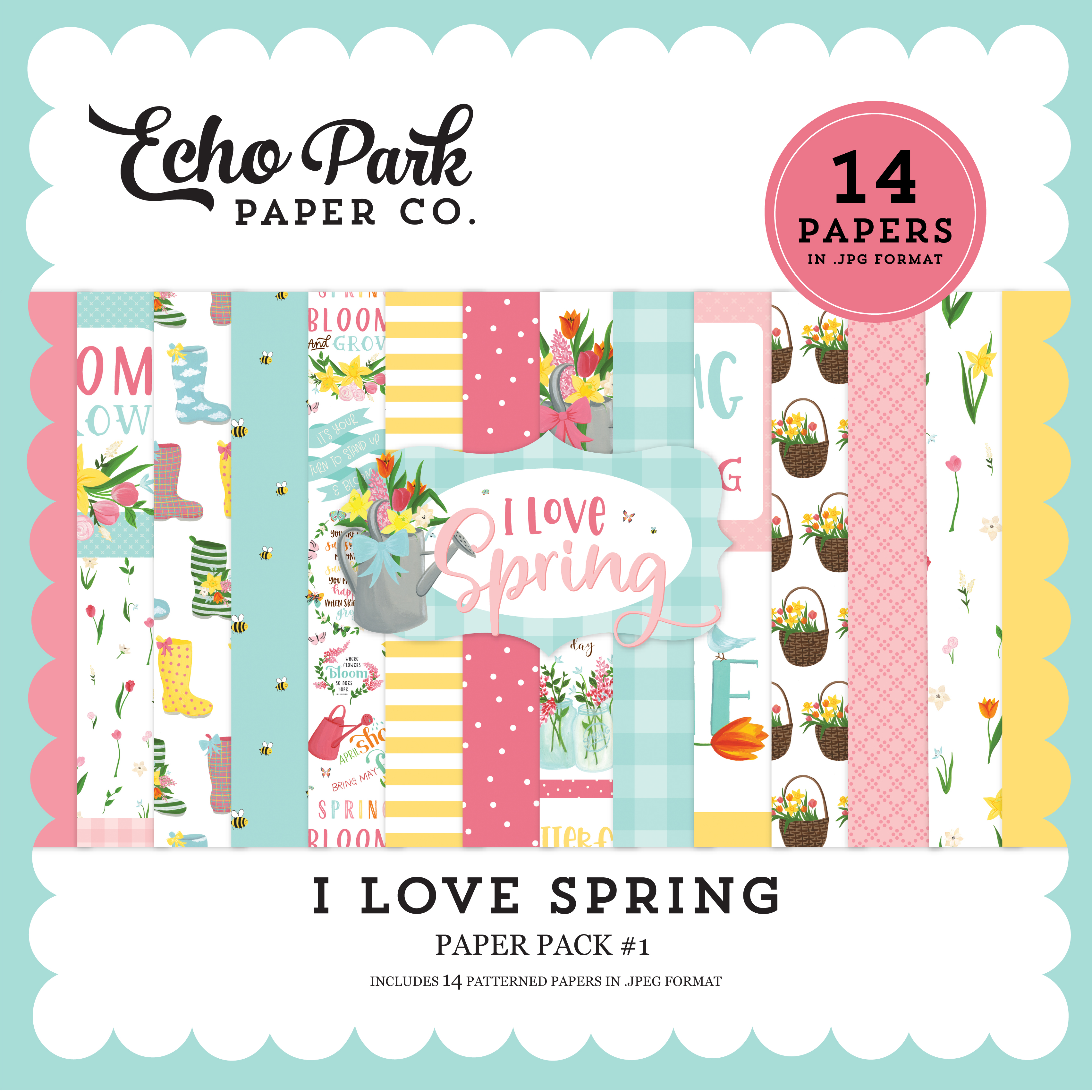 I Love Spring Paper Pack #1