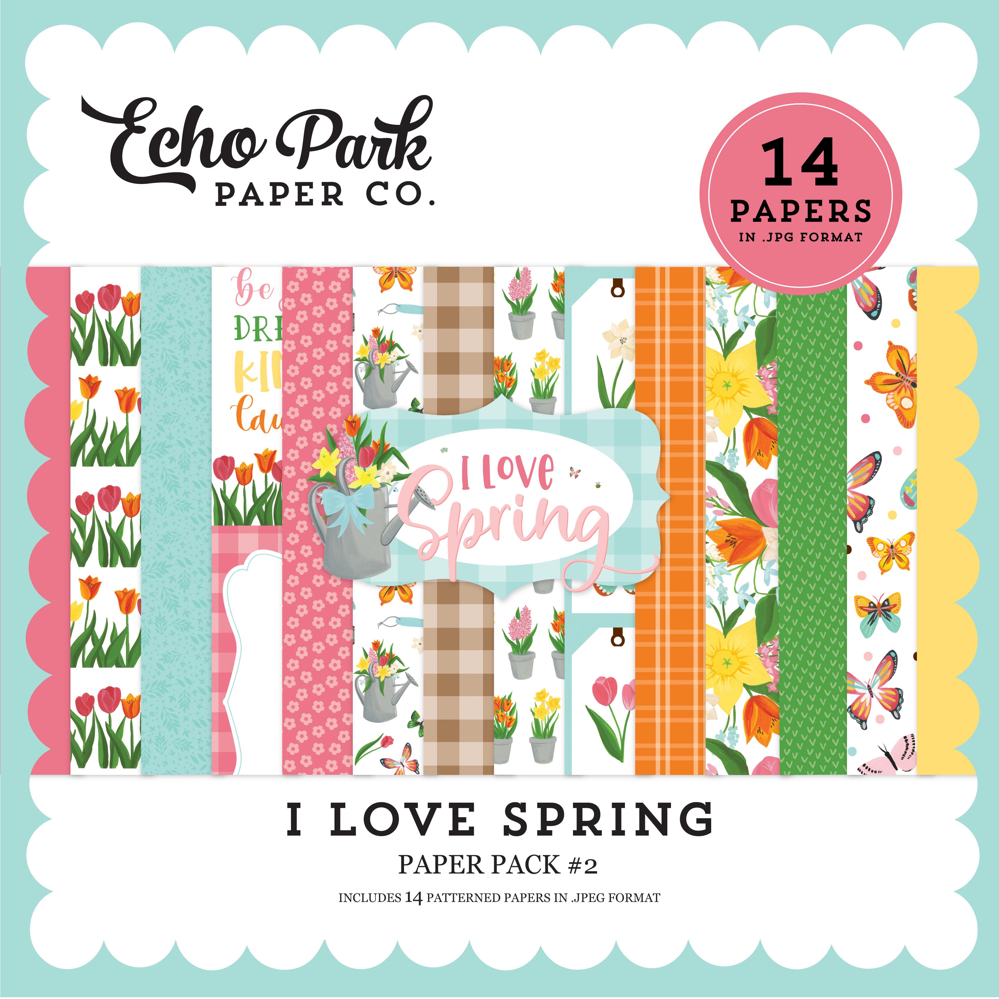 I Love Spring Paper Pack #2