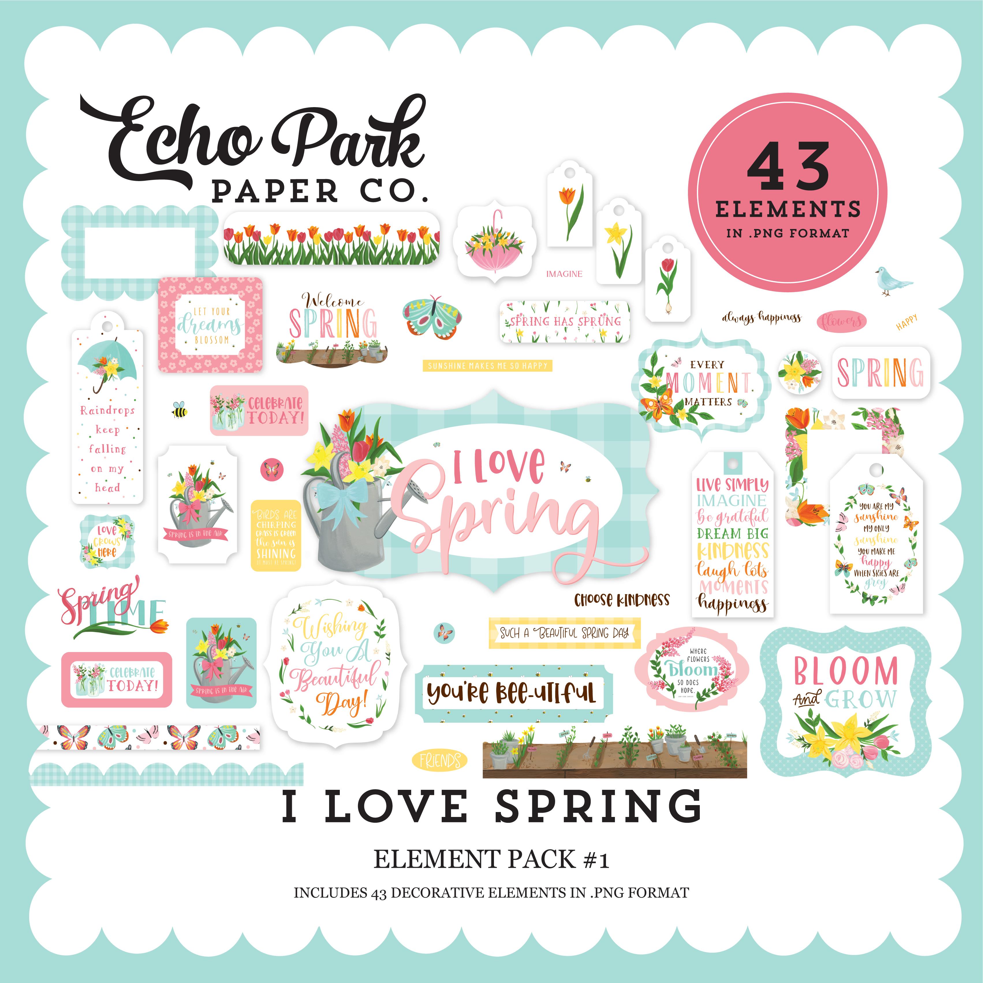 I Love Spring Element Pack #1