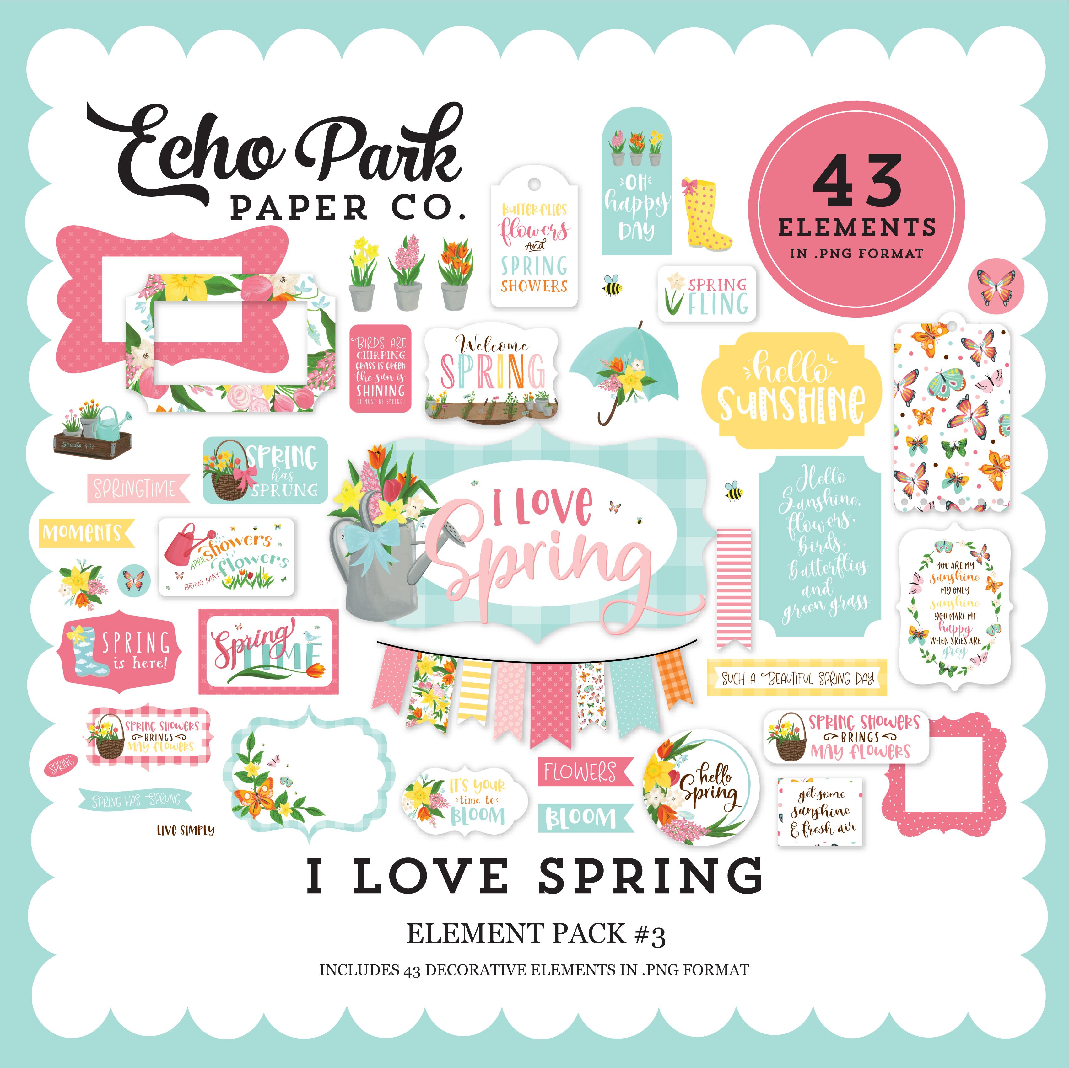 I Love Spring Element Pack #3