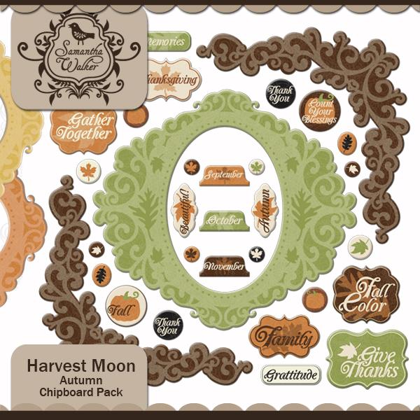 Harvest Moon Autumn Chipboard pack