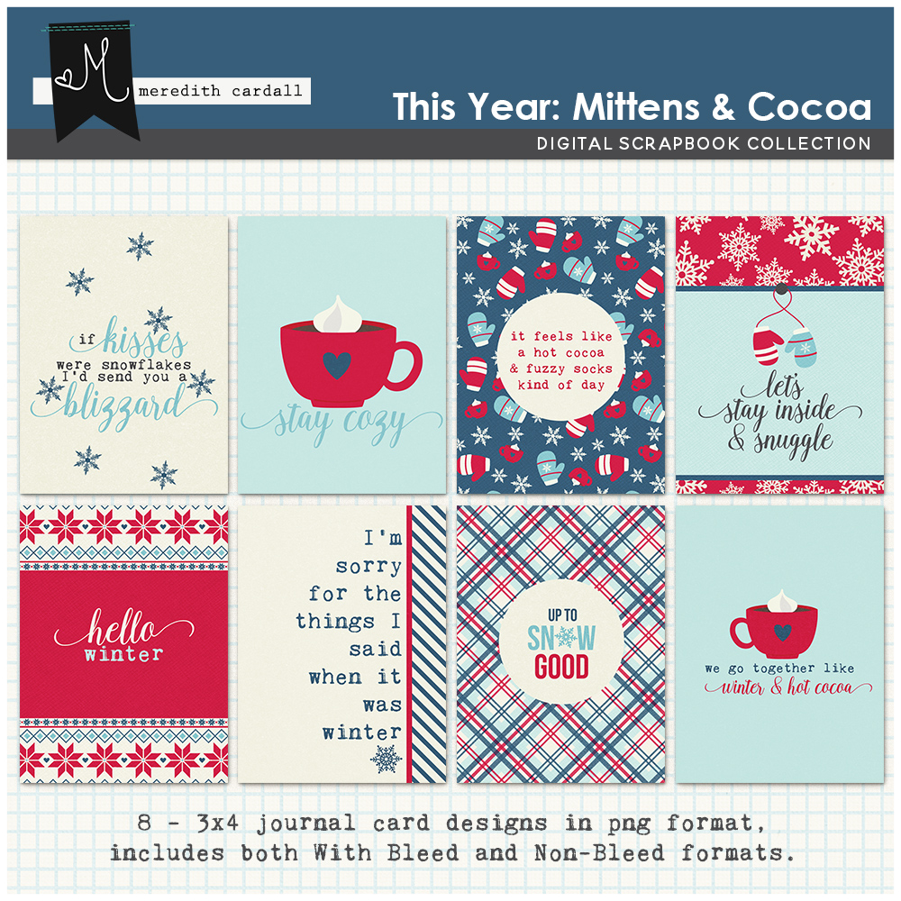 This Year: Mittens & Cocoa Cards
