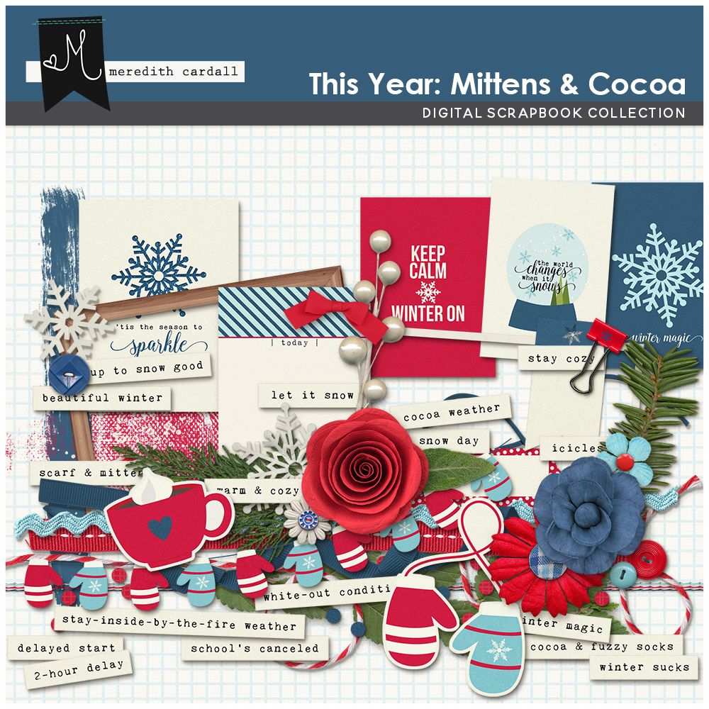 This Year: Mittens & Cocoa Elements