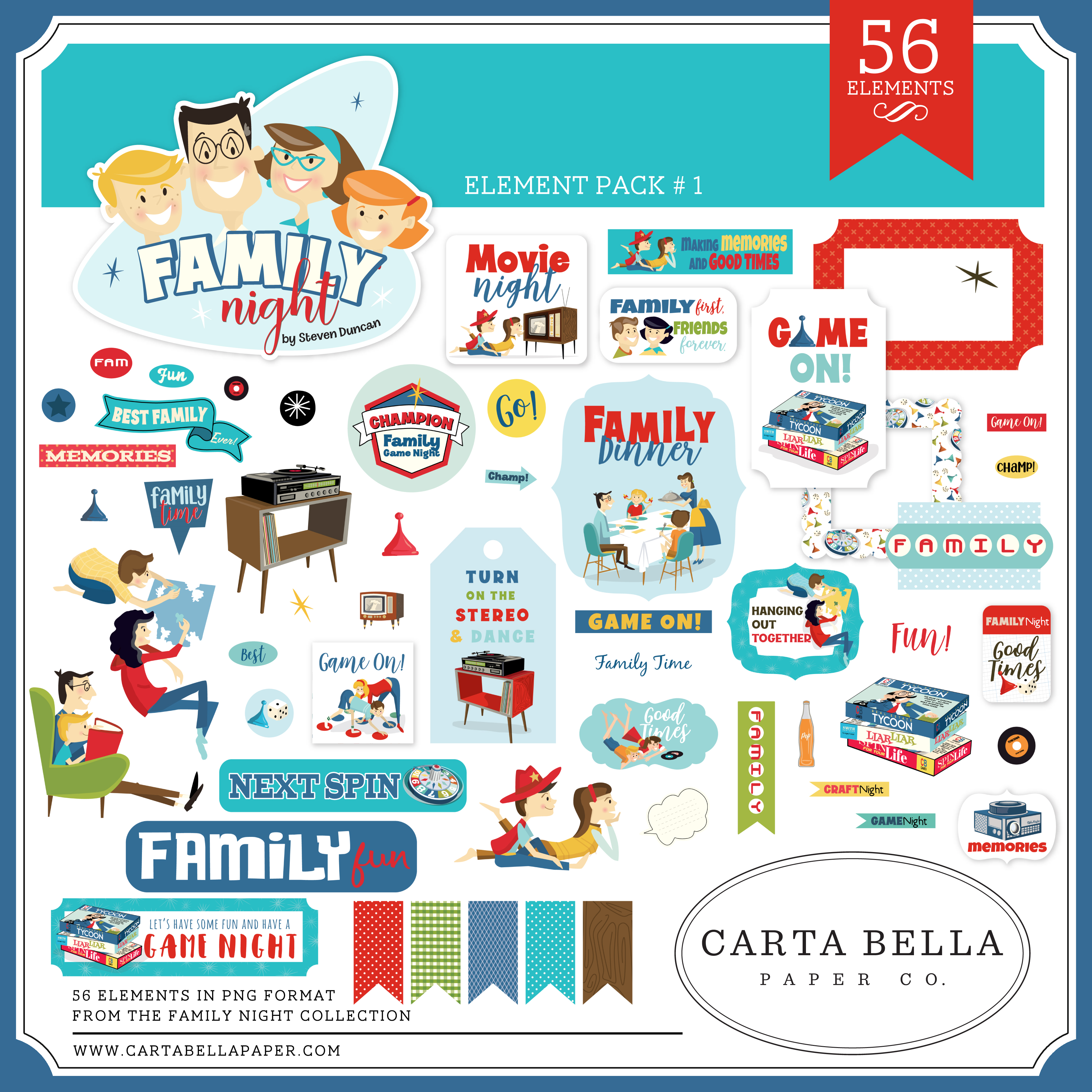 Family Night Element Pack #1