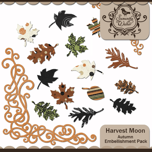 Harvest Moon Autumn Leaves and Accents