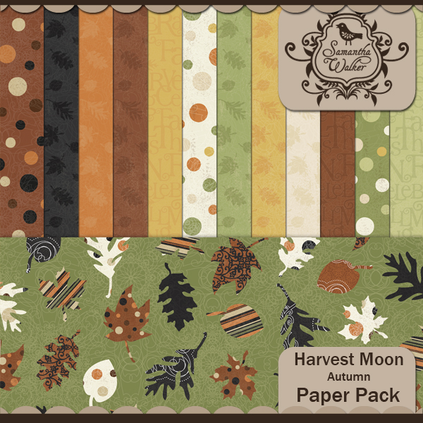 Harvest Moon Autumn Papers